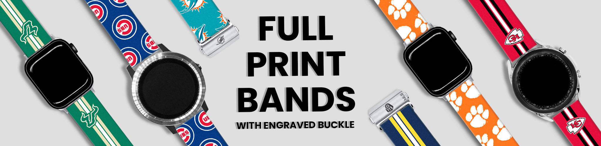 Full Print Bands With Engraved Buckle