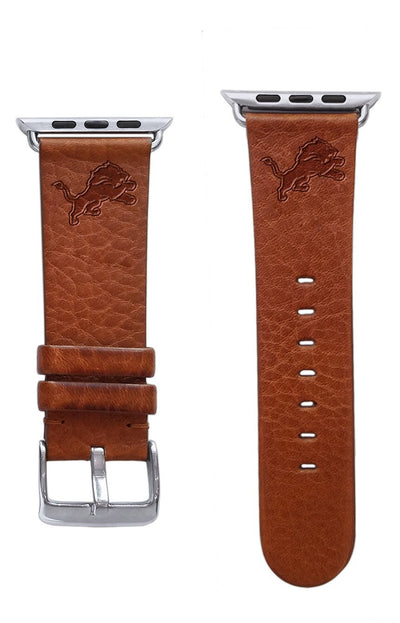 Detroit Lions Leather Apple Watch Band-AffinityBands
