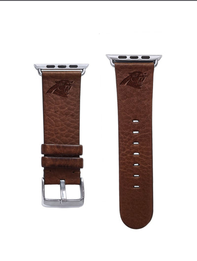Carolina Panthers Leather Apple Watch Band-AffinityBands