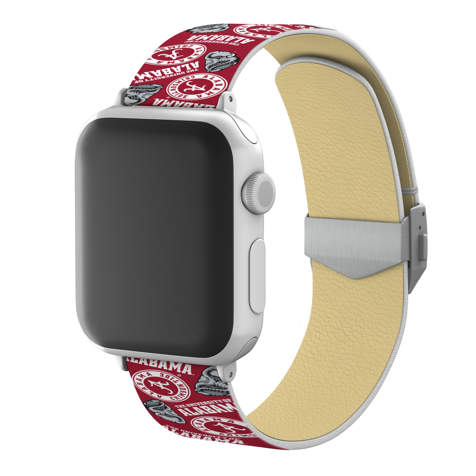 Alabama Crimson Tide Full Print Watch Band With Engraved Buckle - AffinityBands