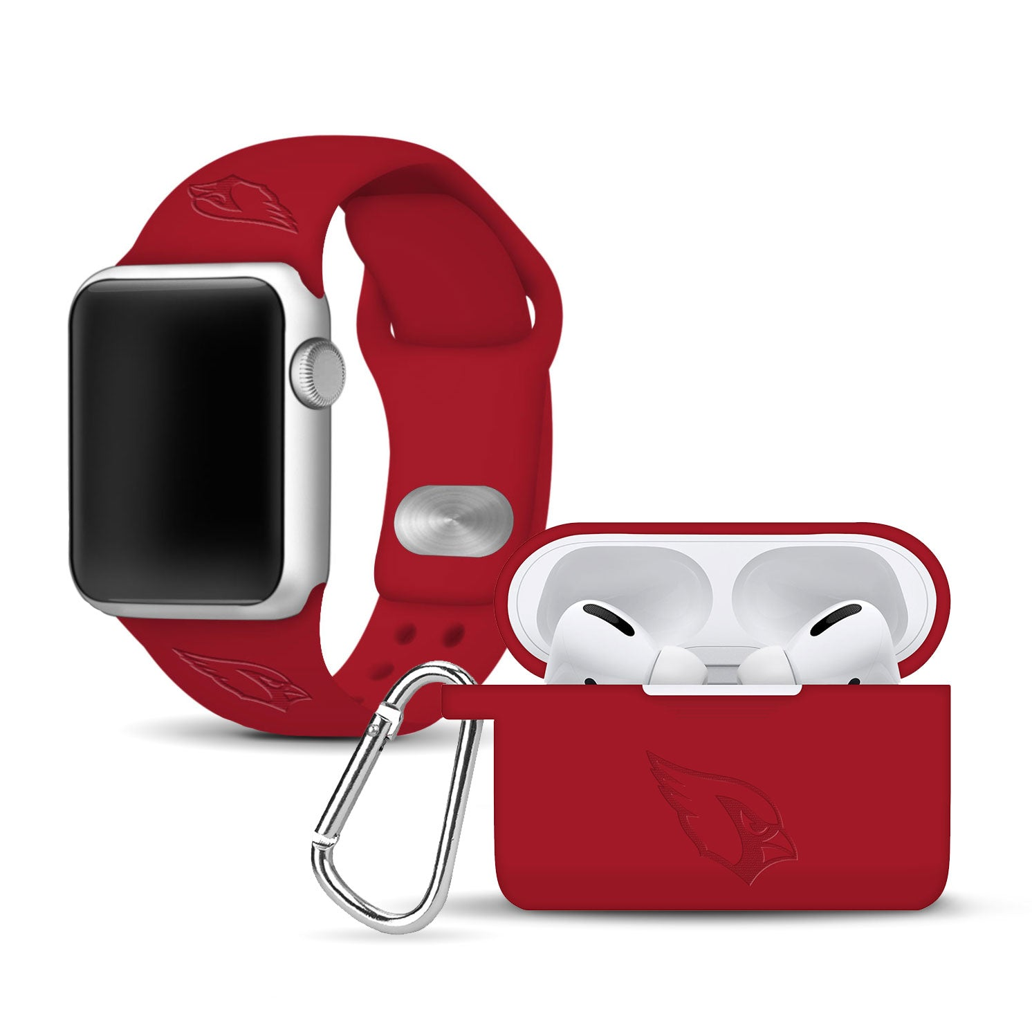 Arizona Cardinals Debossed Apple Combo Pro Package - AffinityBands