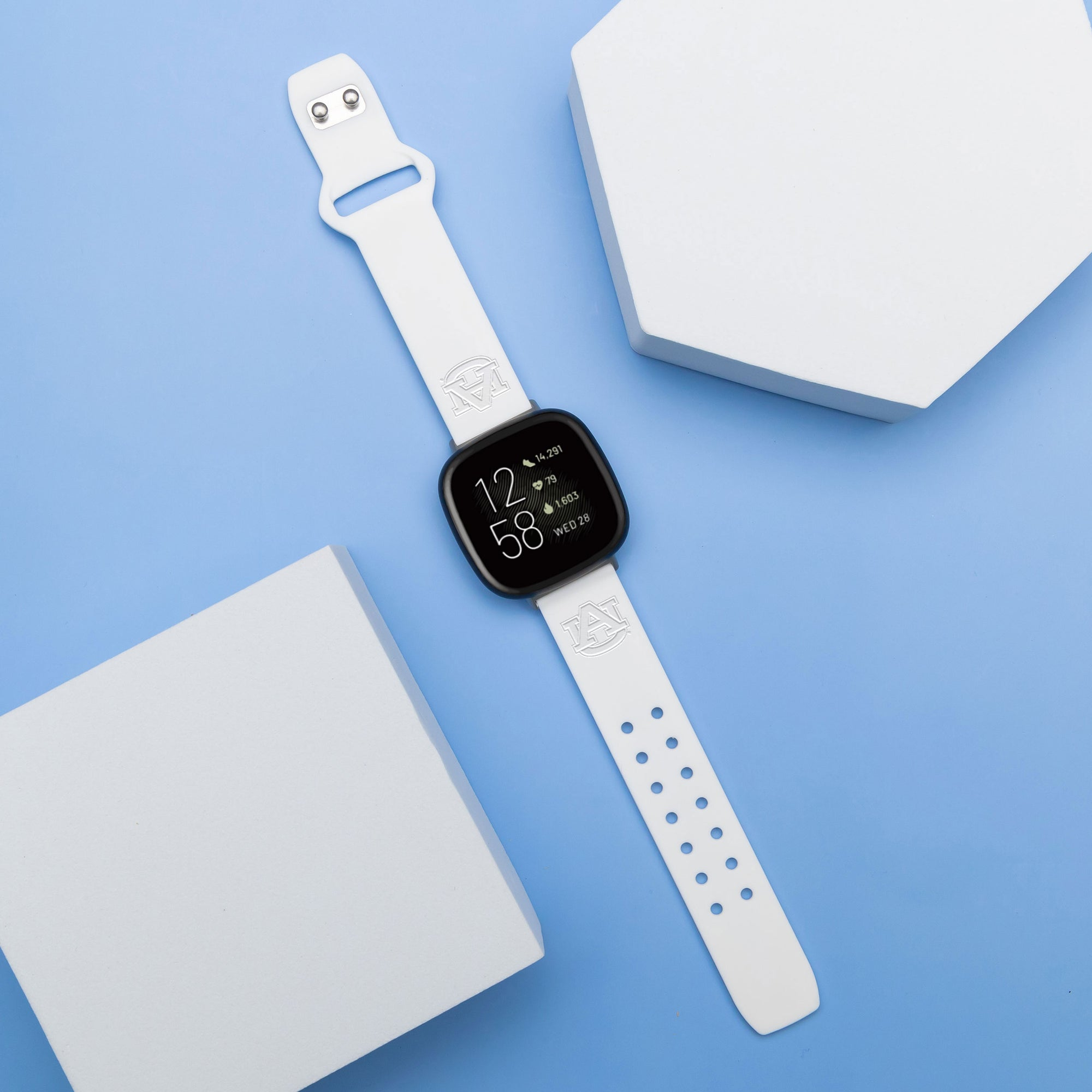 Auburn Tigers Apple Watch Band - White