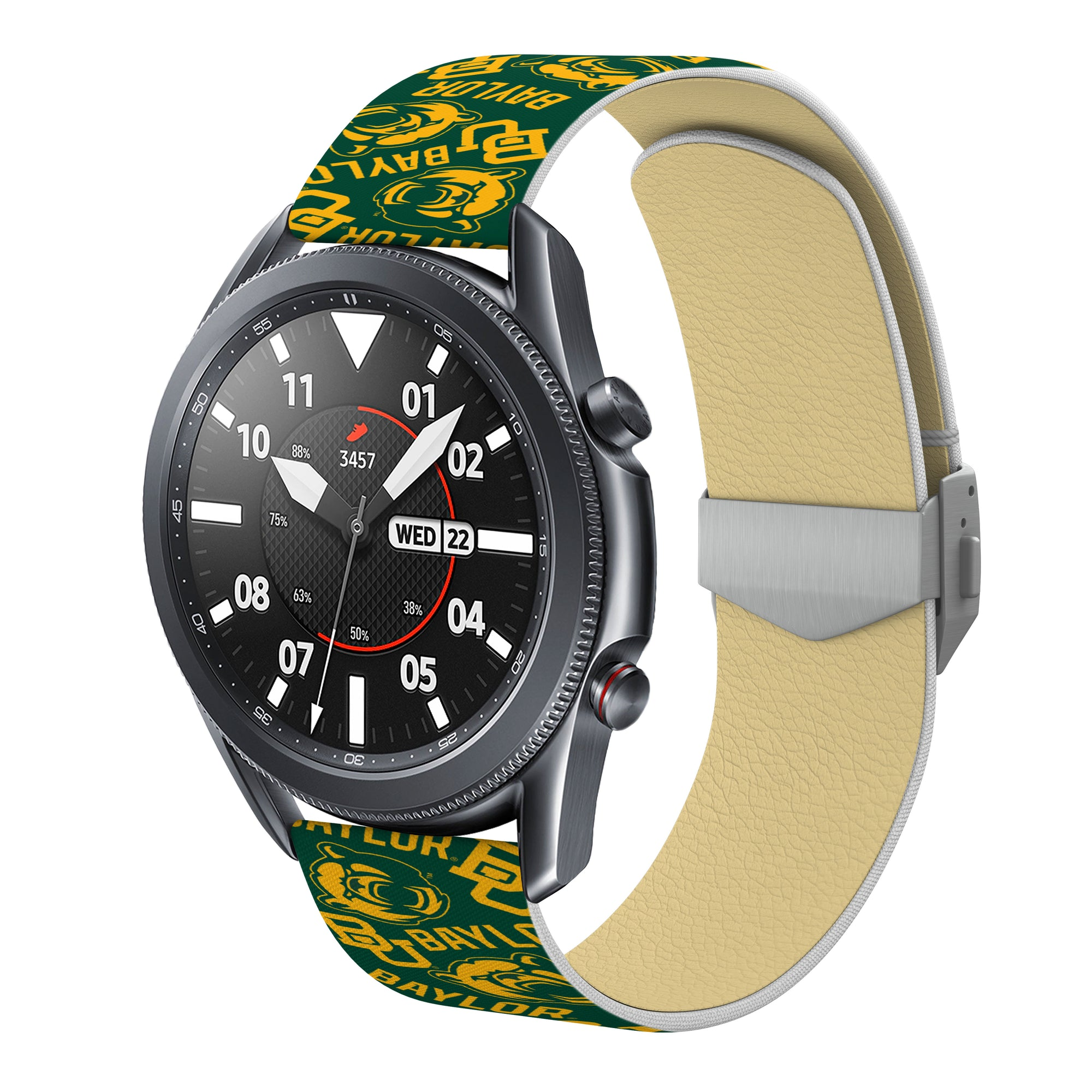 Baylor Bears Full Print Quick Change Watch Band With Engraved Buckle - AffinityBands