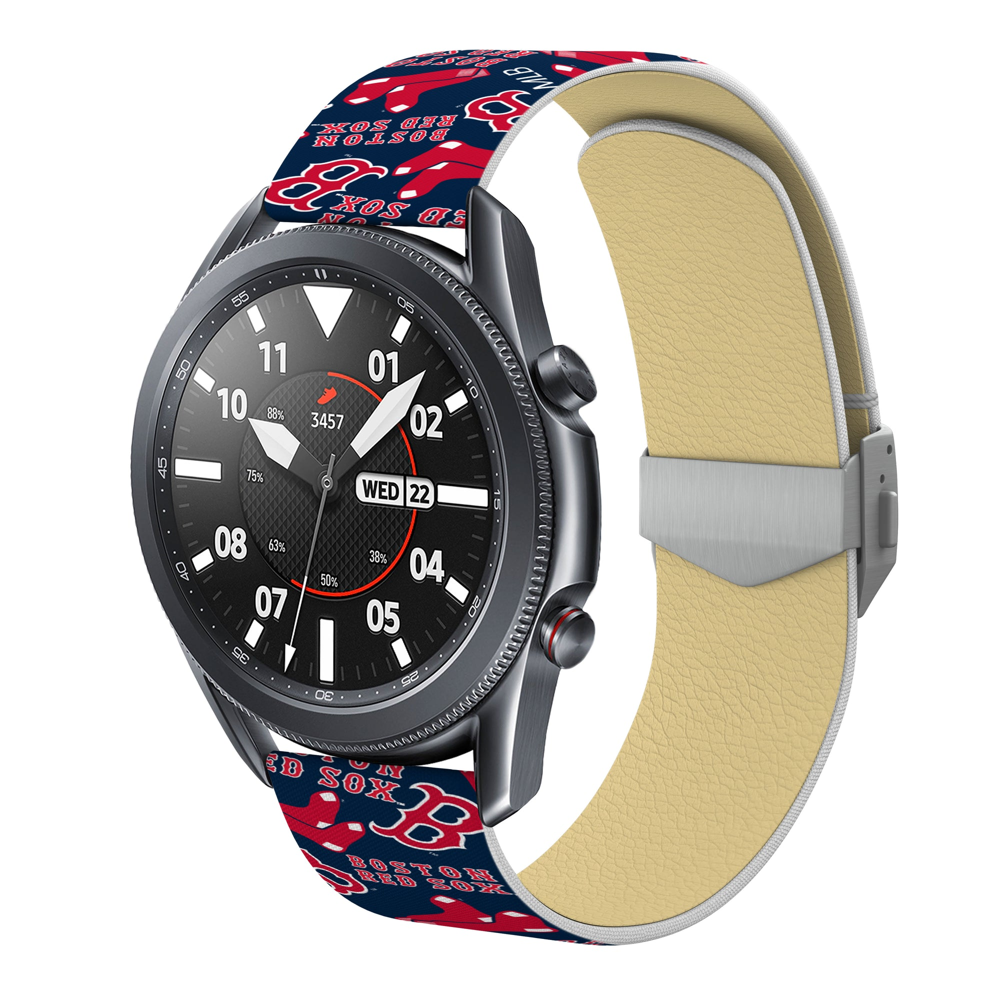 Boston Red Sox Debossed Silicone Watch Band - AffinityBands