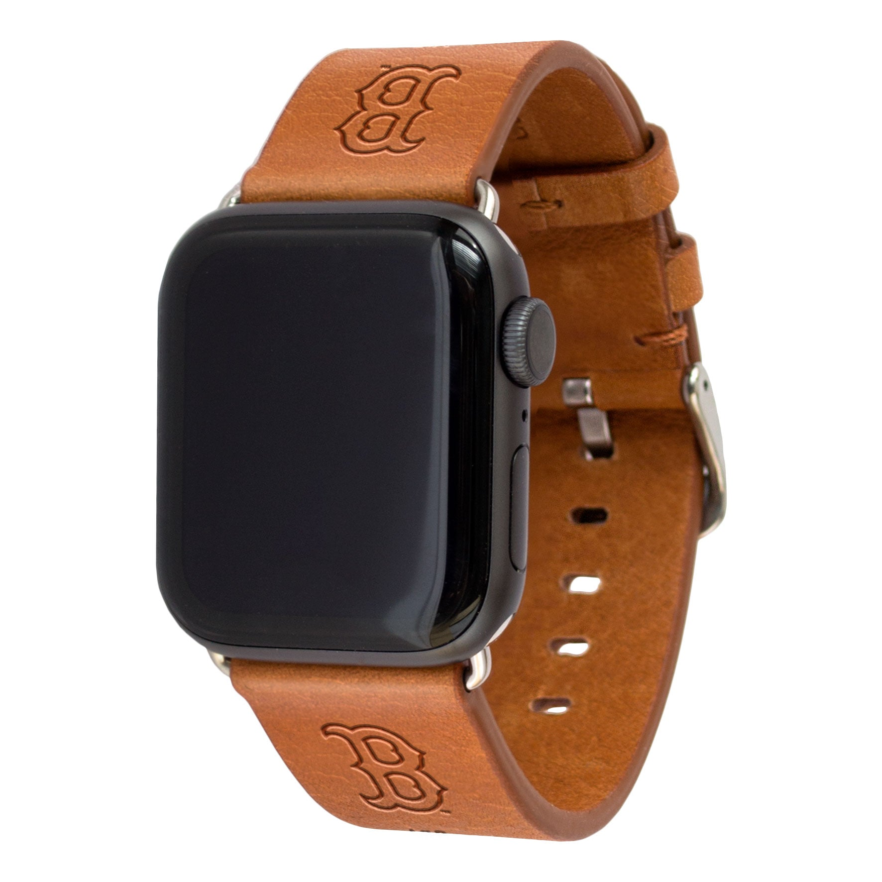 Boston Red Sox Leather Band Compatible with Apple Watch - AffinityBands