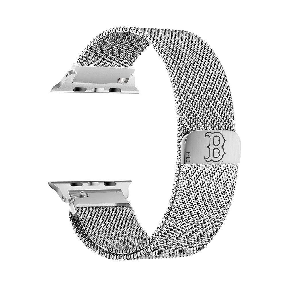 Boston Red Sox Stainless Steel Apple Watch Band - AffinityBands