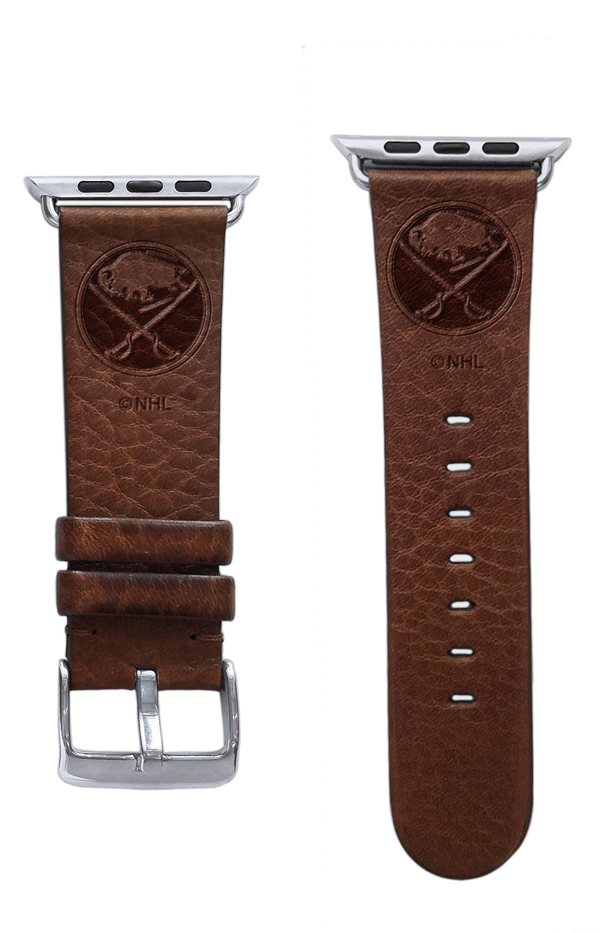Buffalo Sabres Leather Apple Watch Band