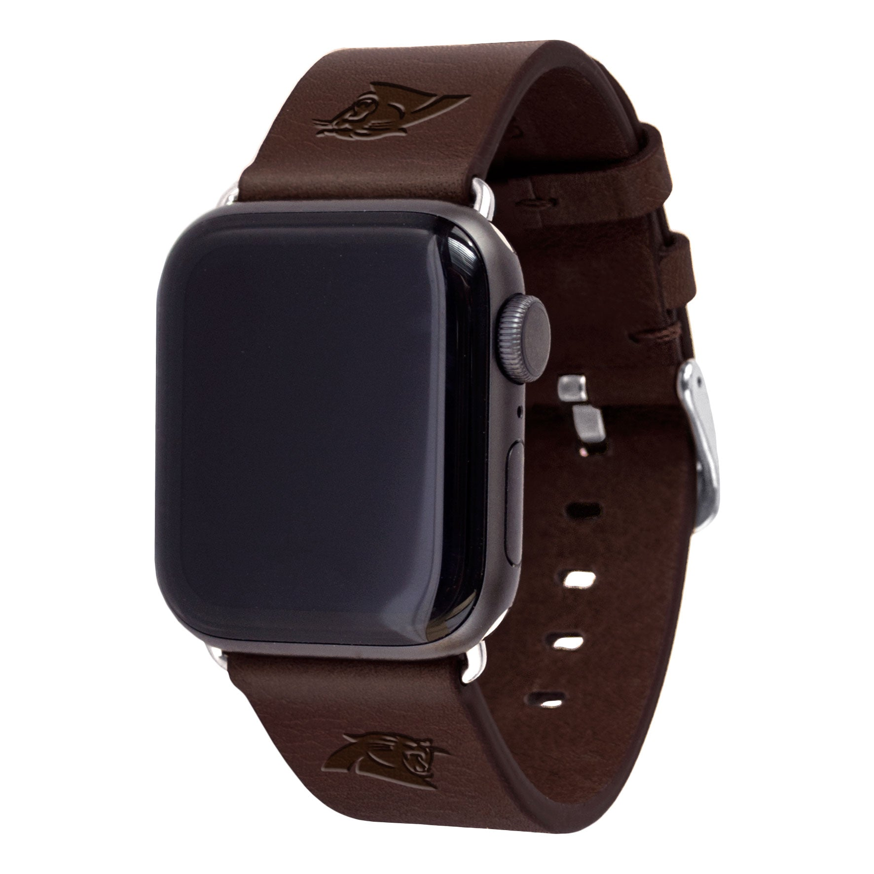 new products 31c26 379ae Carolina Panthers Leather Apple Watch Band