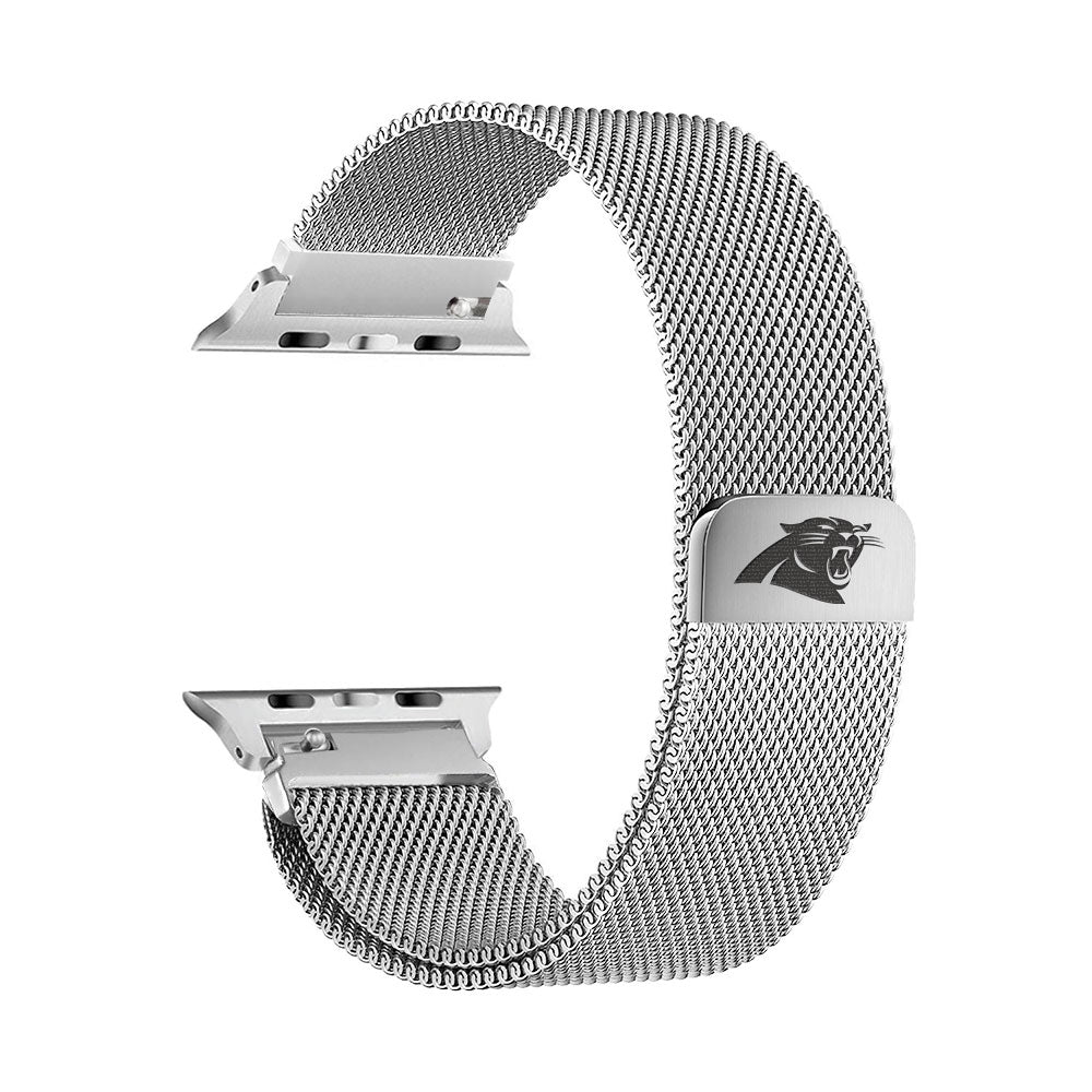 Carolina Panthers Stainless Steel Apple Watch Band - AffinityBands