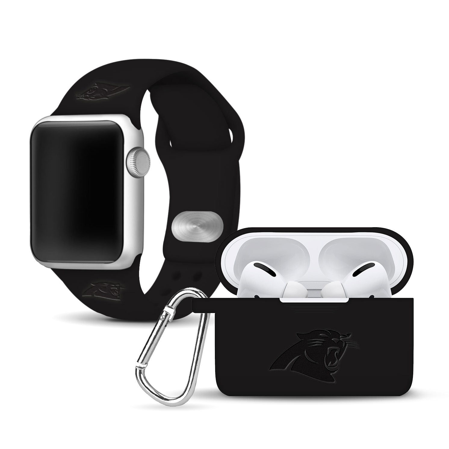 Carolina Panthers Debossed Apple Pro Combo Package - AffinityBands