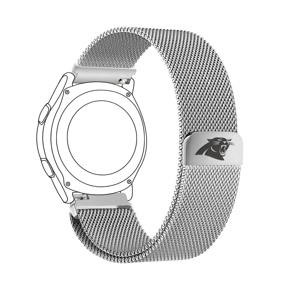 Carolina Panthers Quick Change Stainless Steel Watch Band - AffinityBands