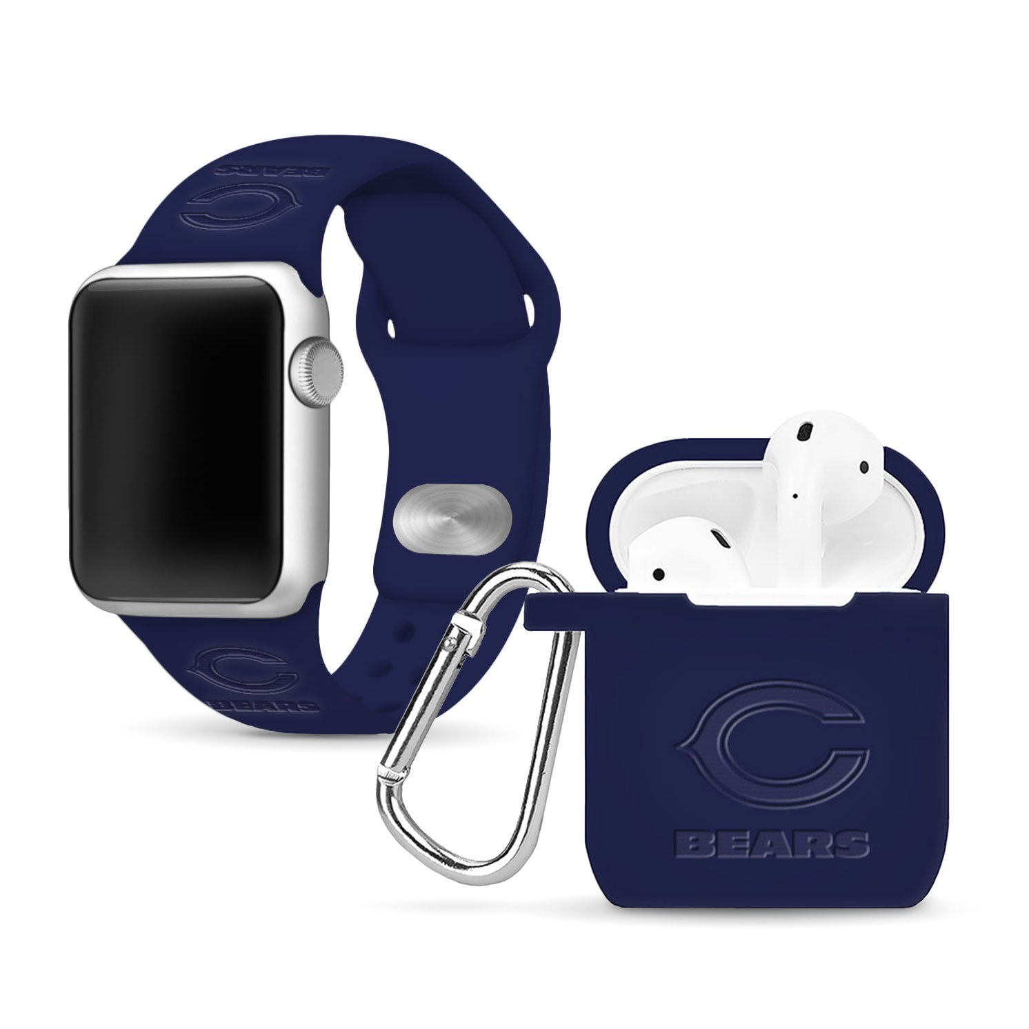 Chicago Bears Debossed Apple Combo Package - AffinityBands