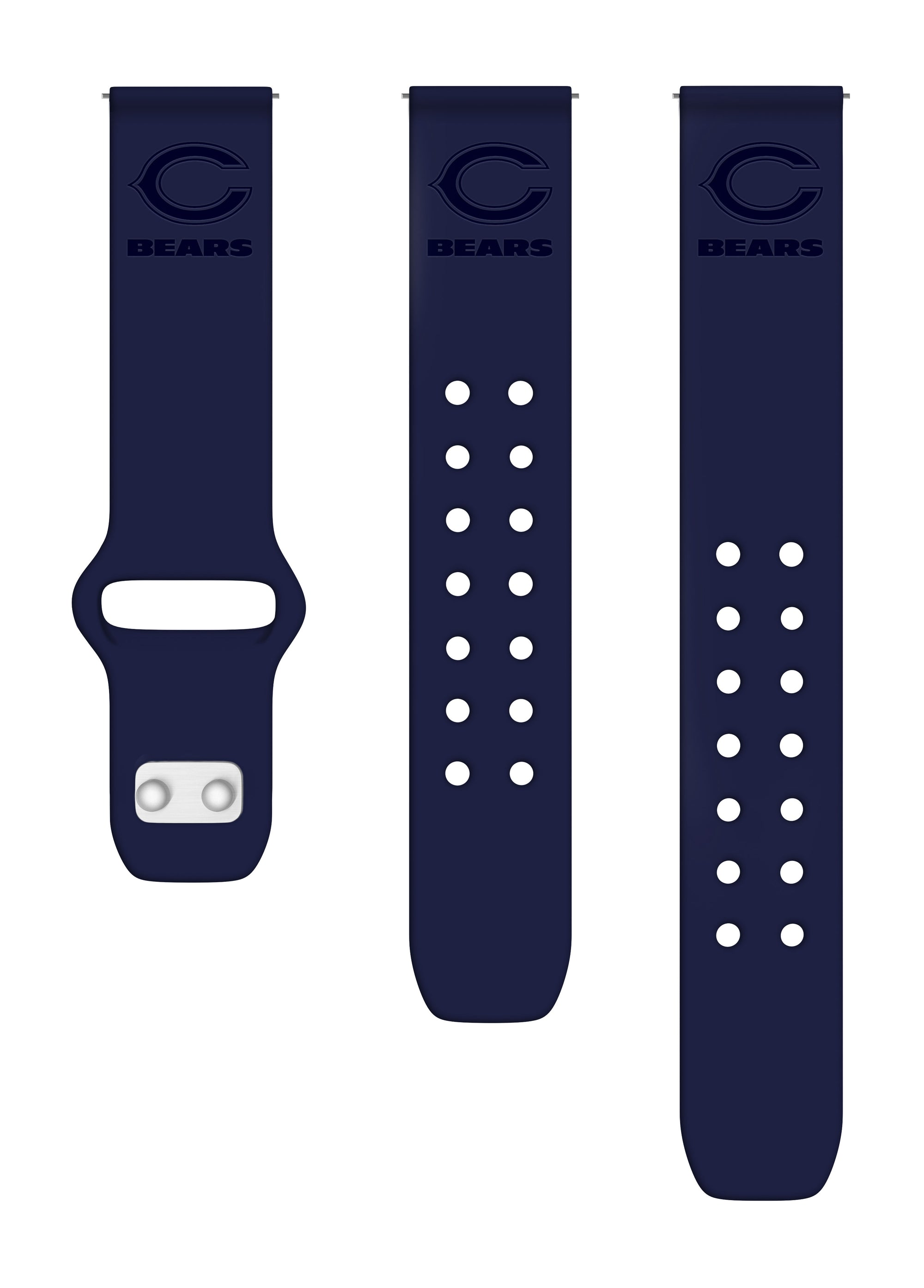 Chicago Bears Debossed Silicone Watchbands - AffinityBands