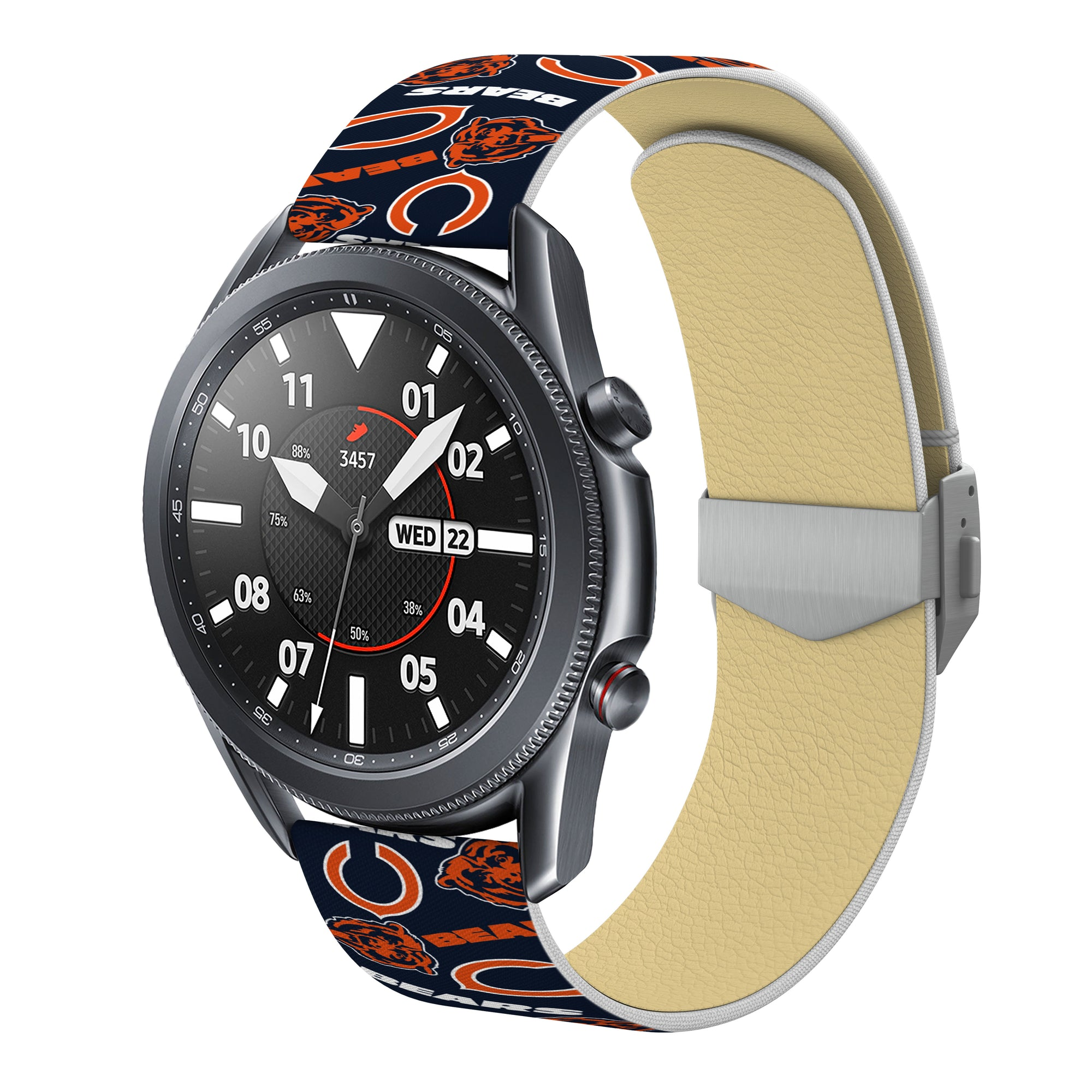 Chicago Bears Full Print Quick Change Watch Band With Engraved Buckle - AffinityBands