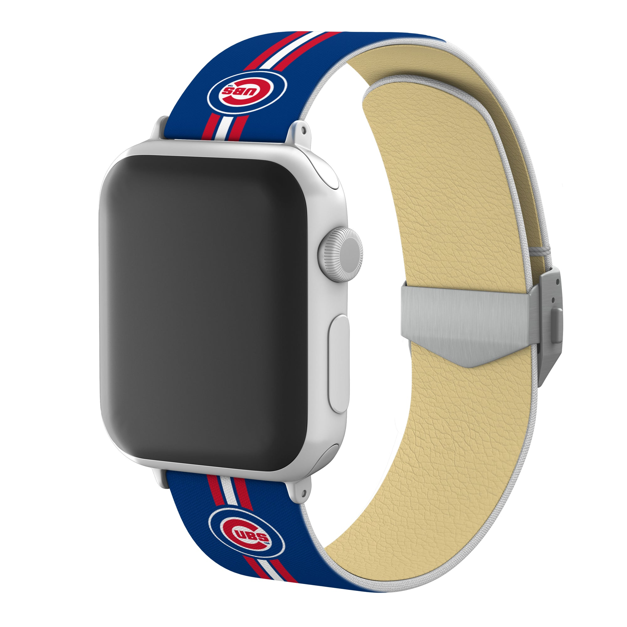 Chicago Cubs Full Print Watch Band With Engraved Buckle - AffinityBands