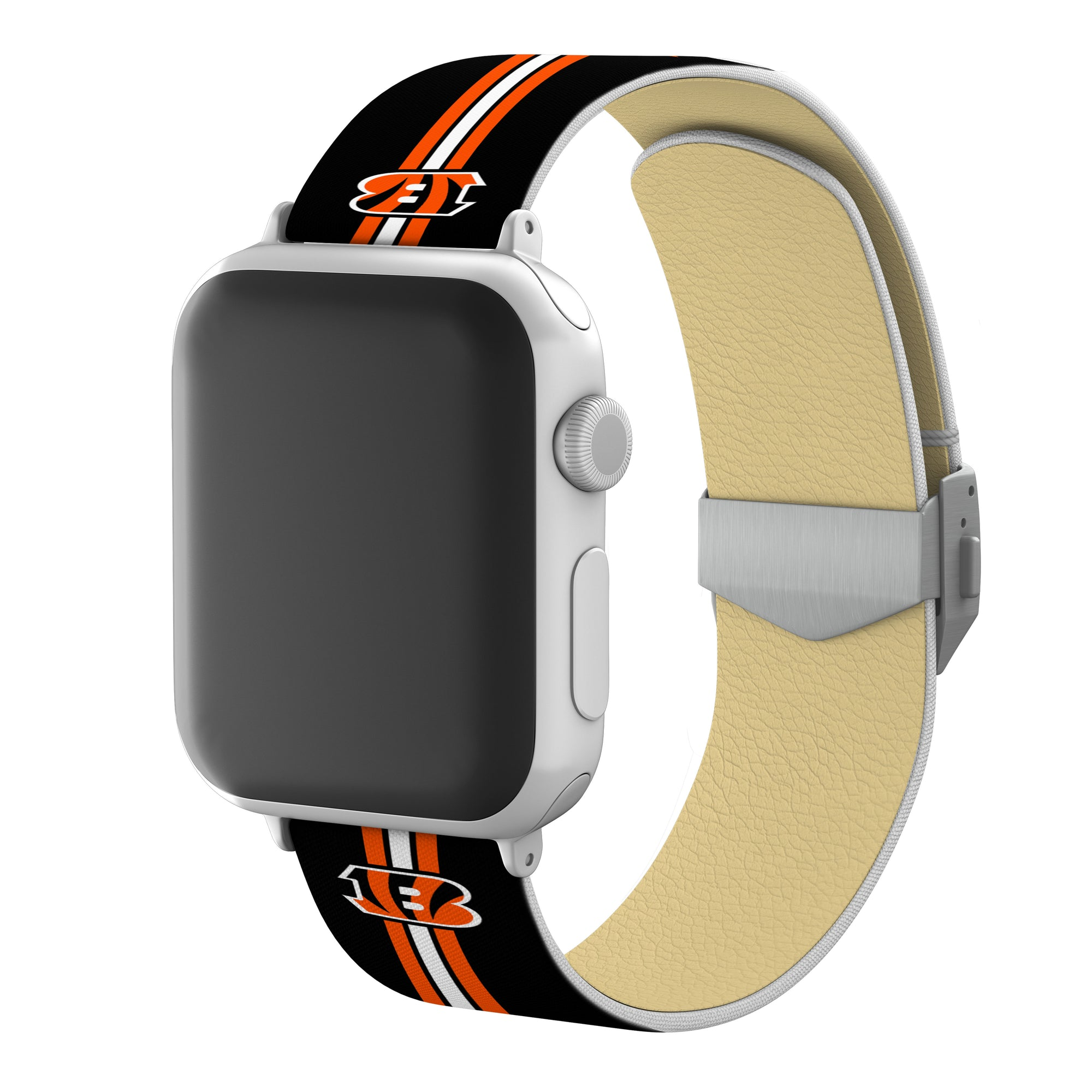 Cincinnati Bengals Full Print Watch Band With Engraved Buckle - AffinityBands