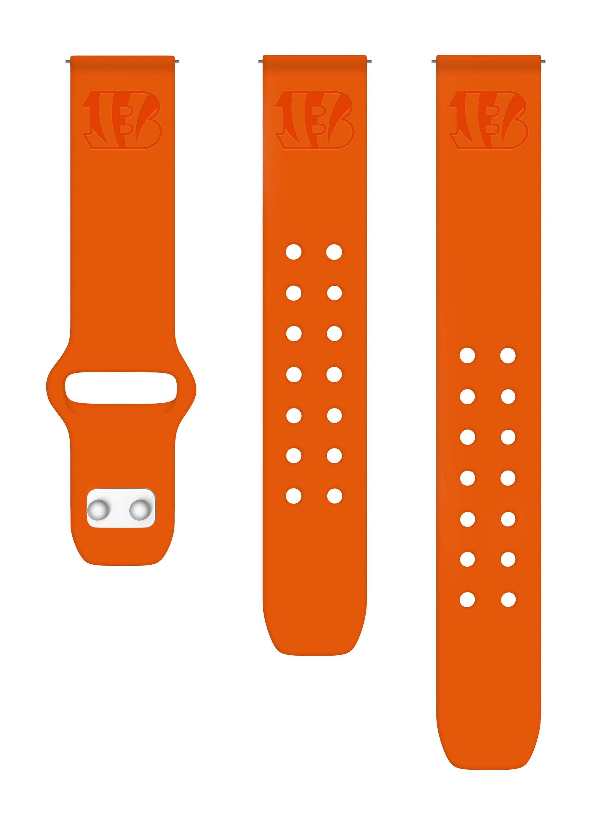 Cincinnati Bengals Debossed Silicone Watch Bands - AffinityBands