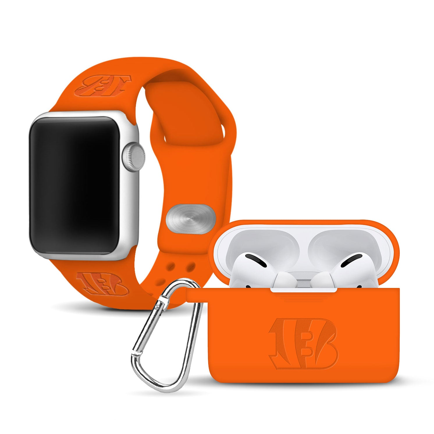 Cincinnati Bengals Debossed Apple Pro Combo Package - AffinityBands