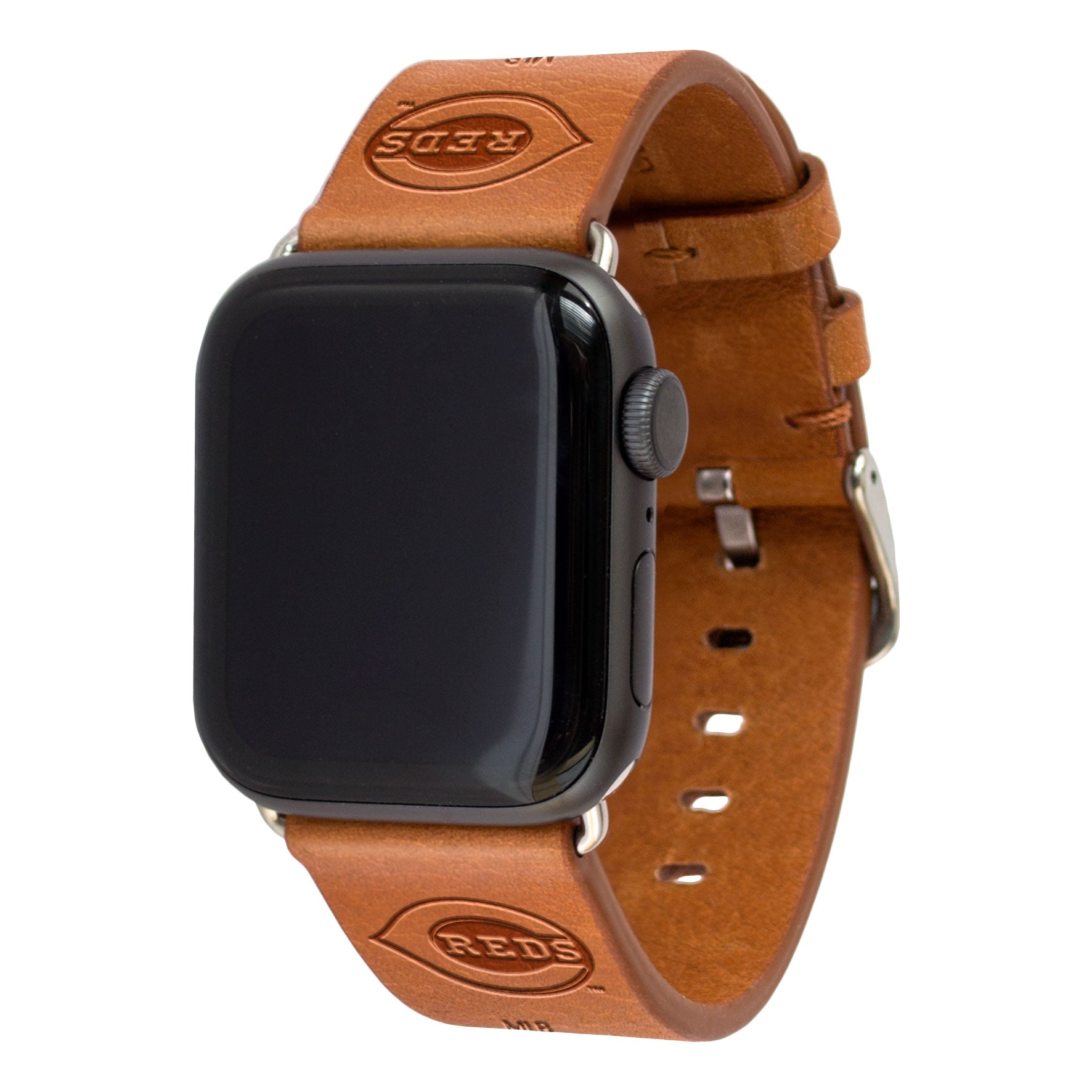 Cincinnati Reds Leather Band Compatible with Apple Watch - AffinityBands