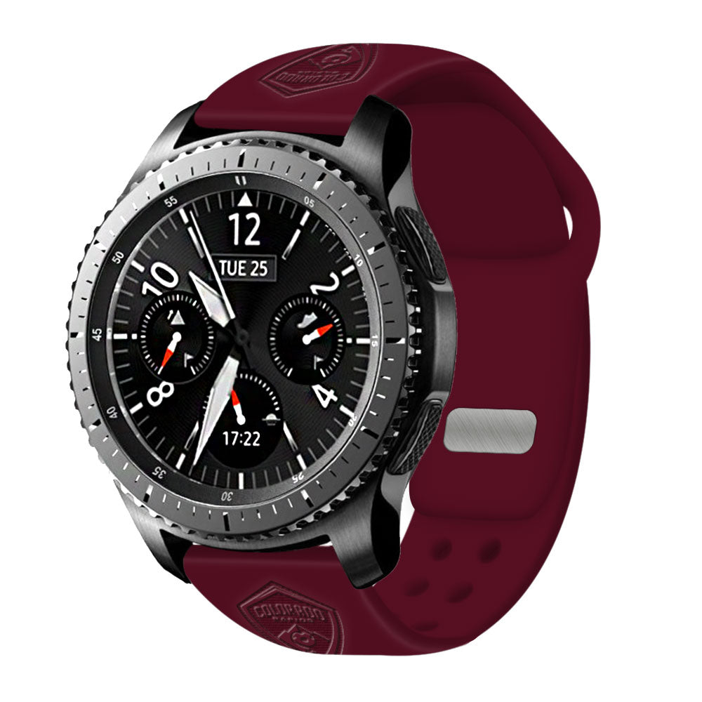 Colorado Rapids Debossed Silicone Watchband - AffinityBands
