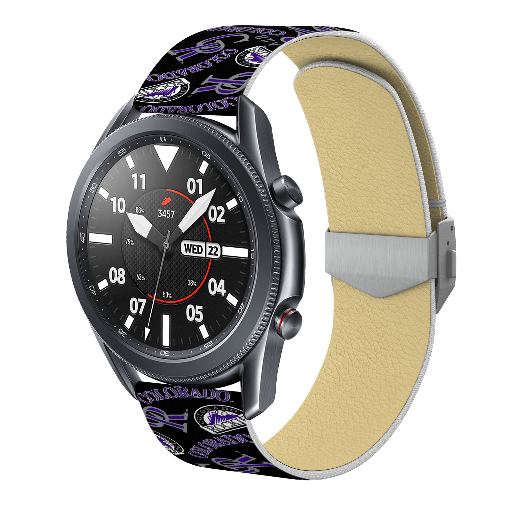 Colorado Rockies Debossed Silicone Watchband