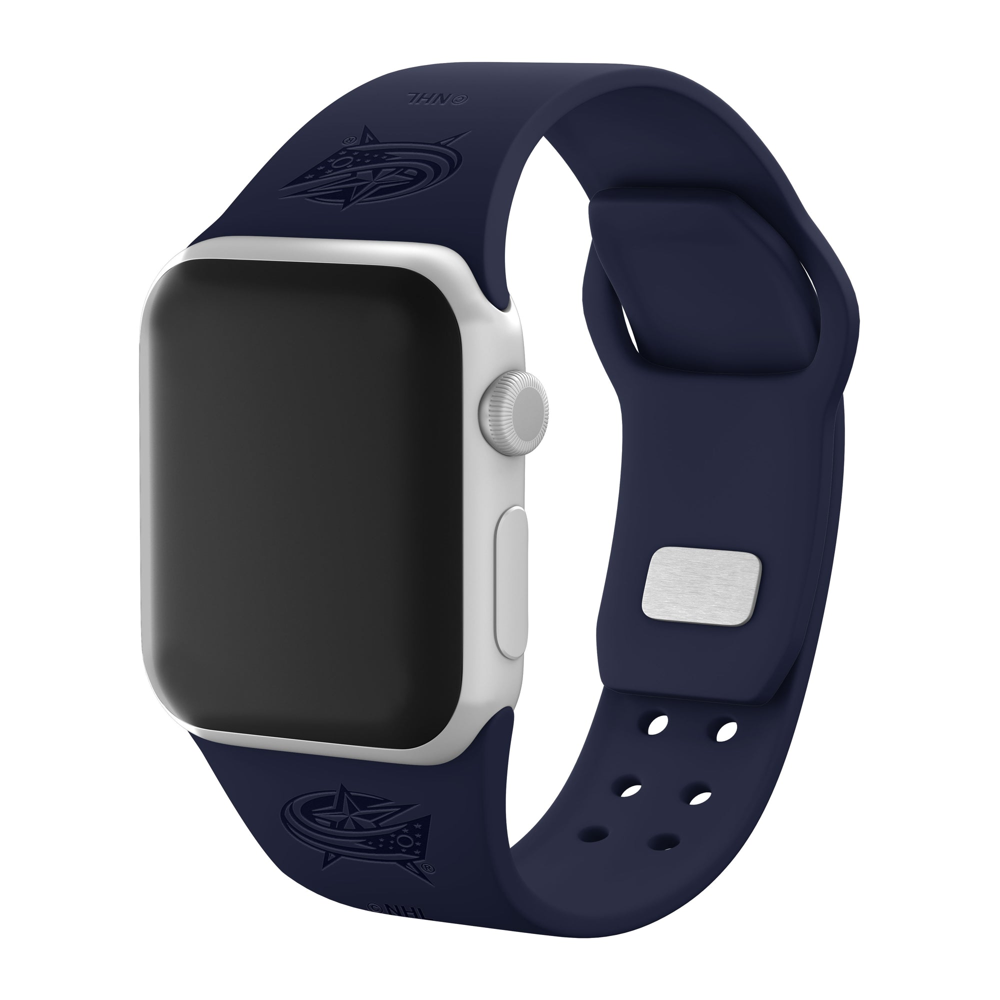Columbus Blue Jackets Debossed Apple Watch Band