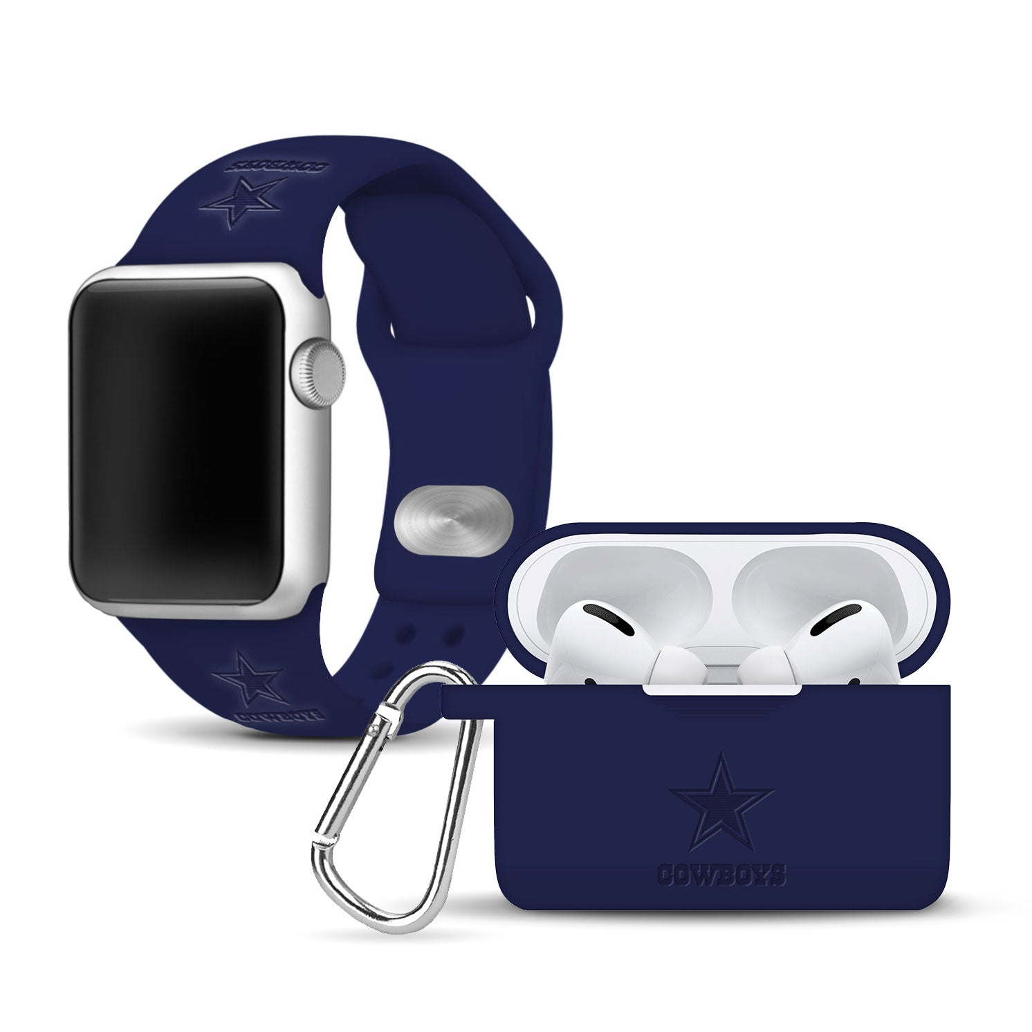 Dallas Cowboys Debossed Apple Pro Combo Package - AffinityBands