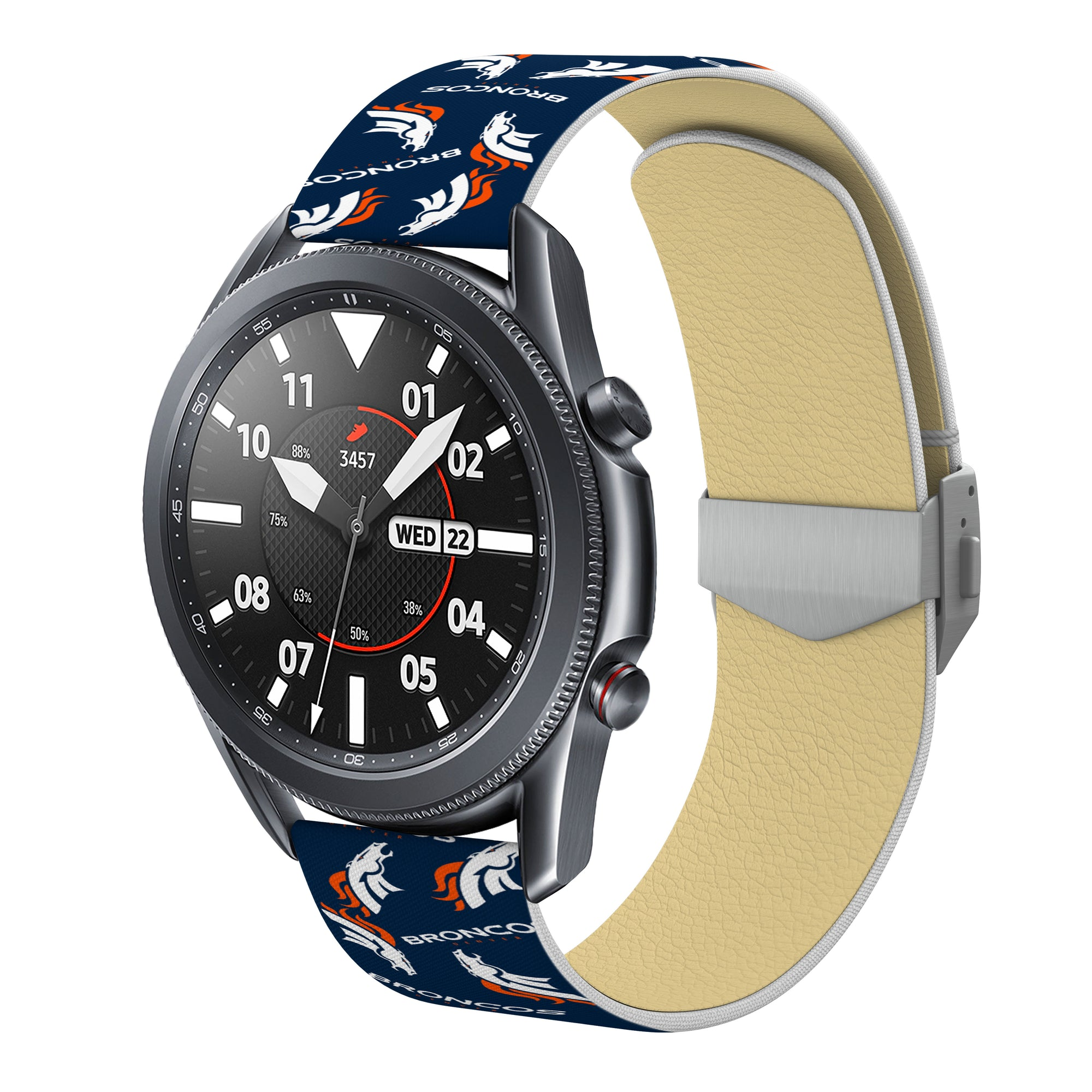 Denver Broncos  Full Print Quick Change Watch Band With Engraved Buckle - AffinityBands