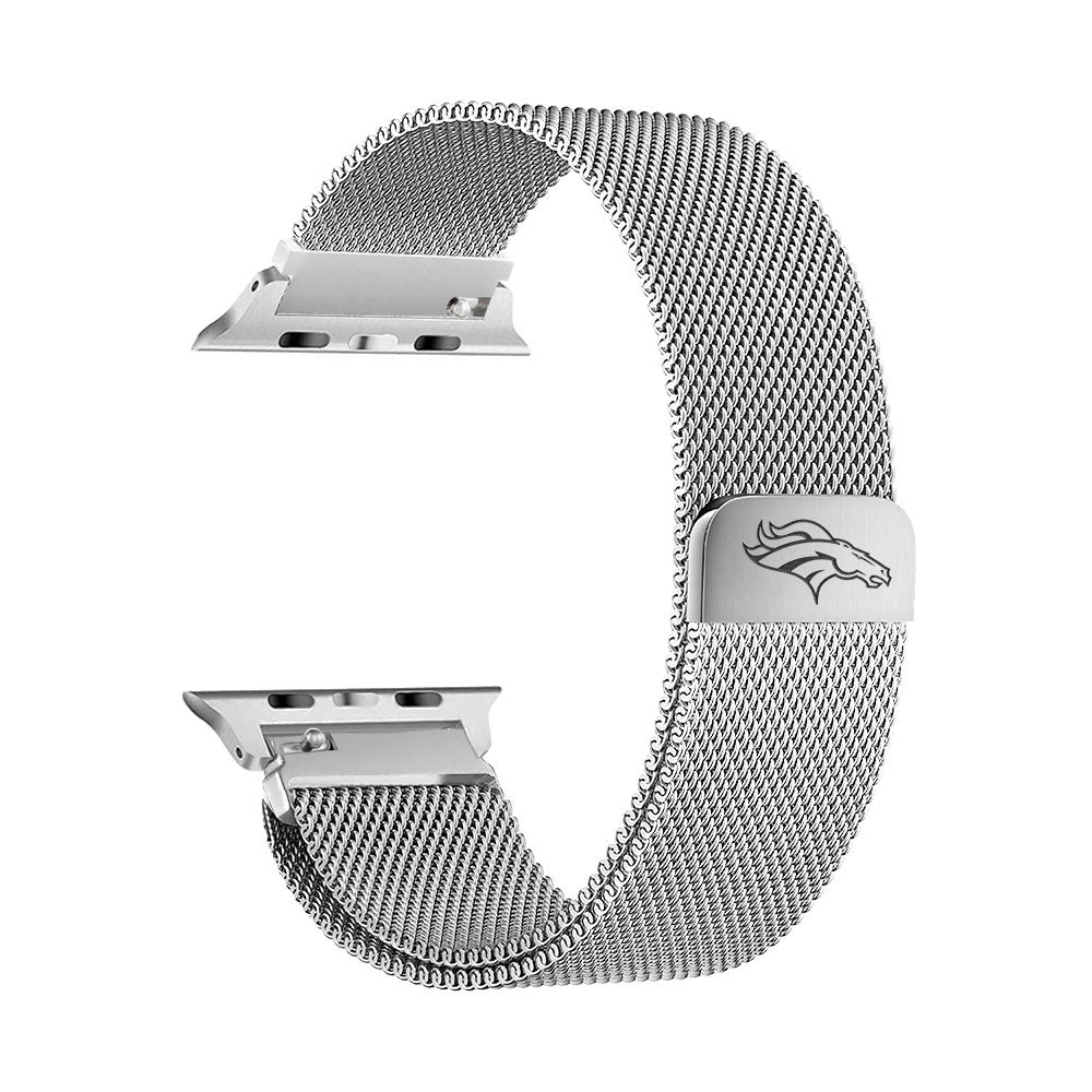 Denver Broncos Stainless Steel Apple Watch Band