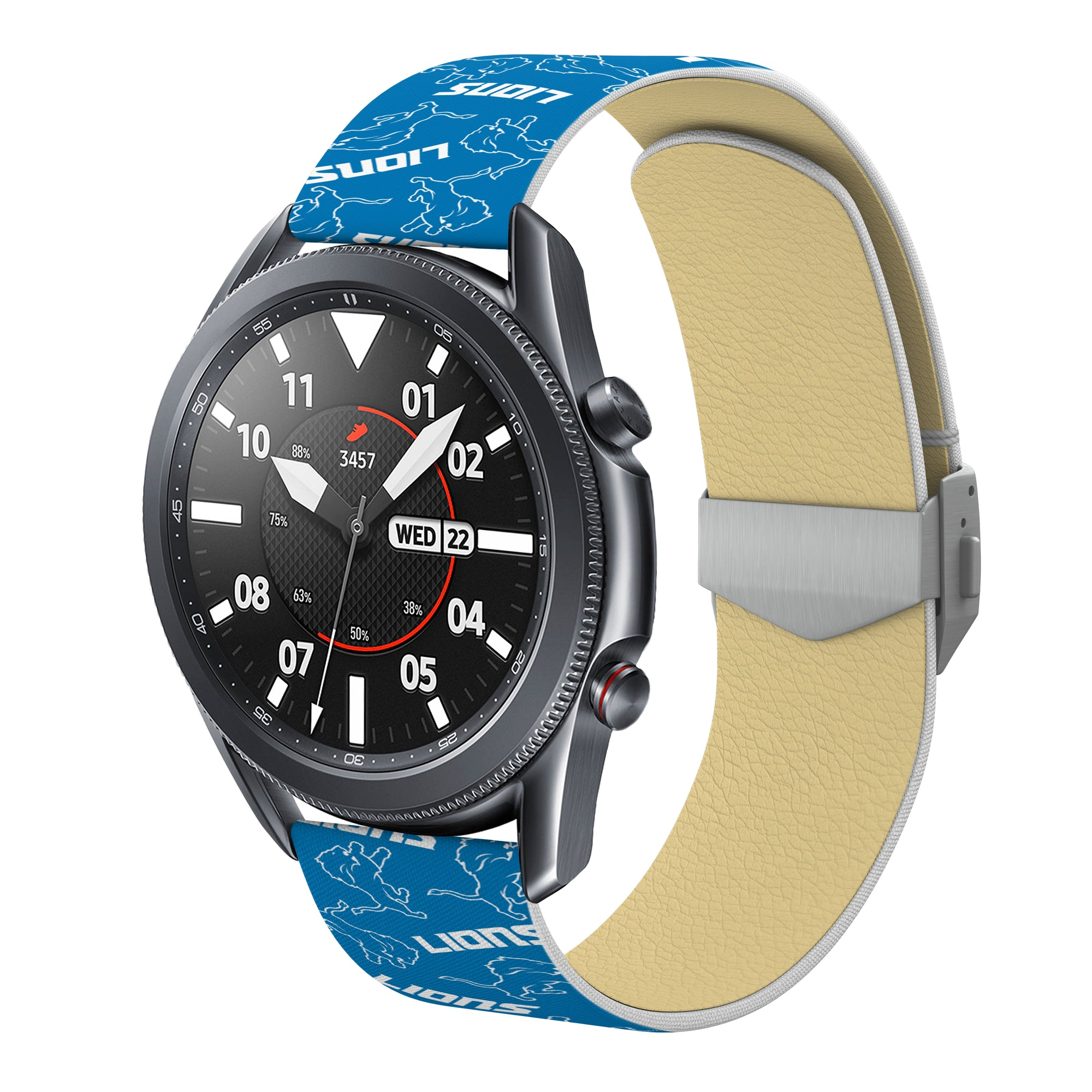 Detroit Lions Debossed Silicone Watchbands
