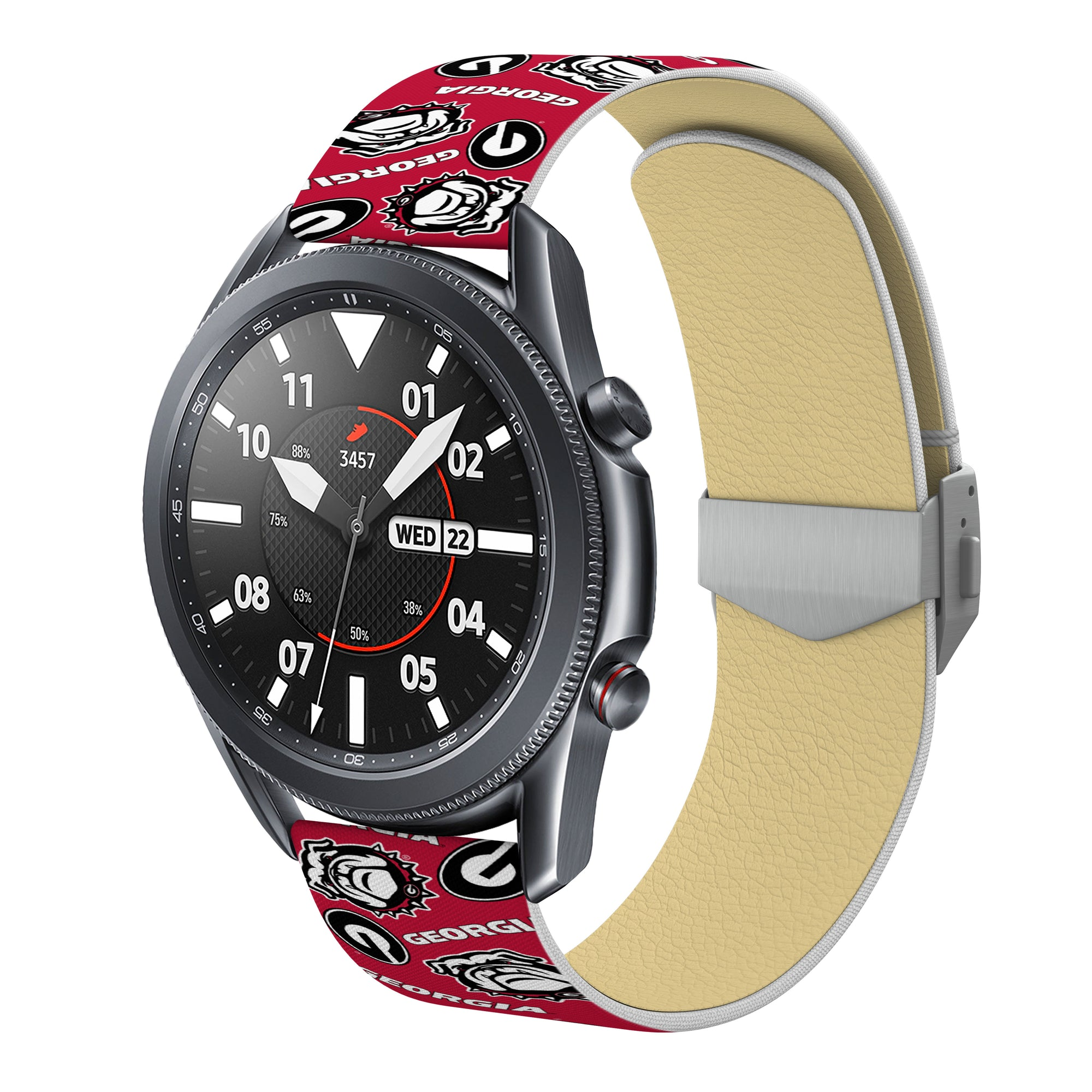 Georgia Bulldogs Full Print Quick Change Watch Band With Engraved Buckle - AffinityBands
