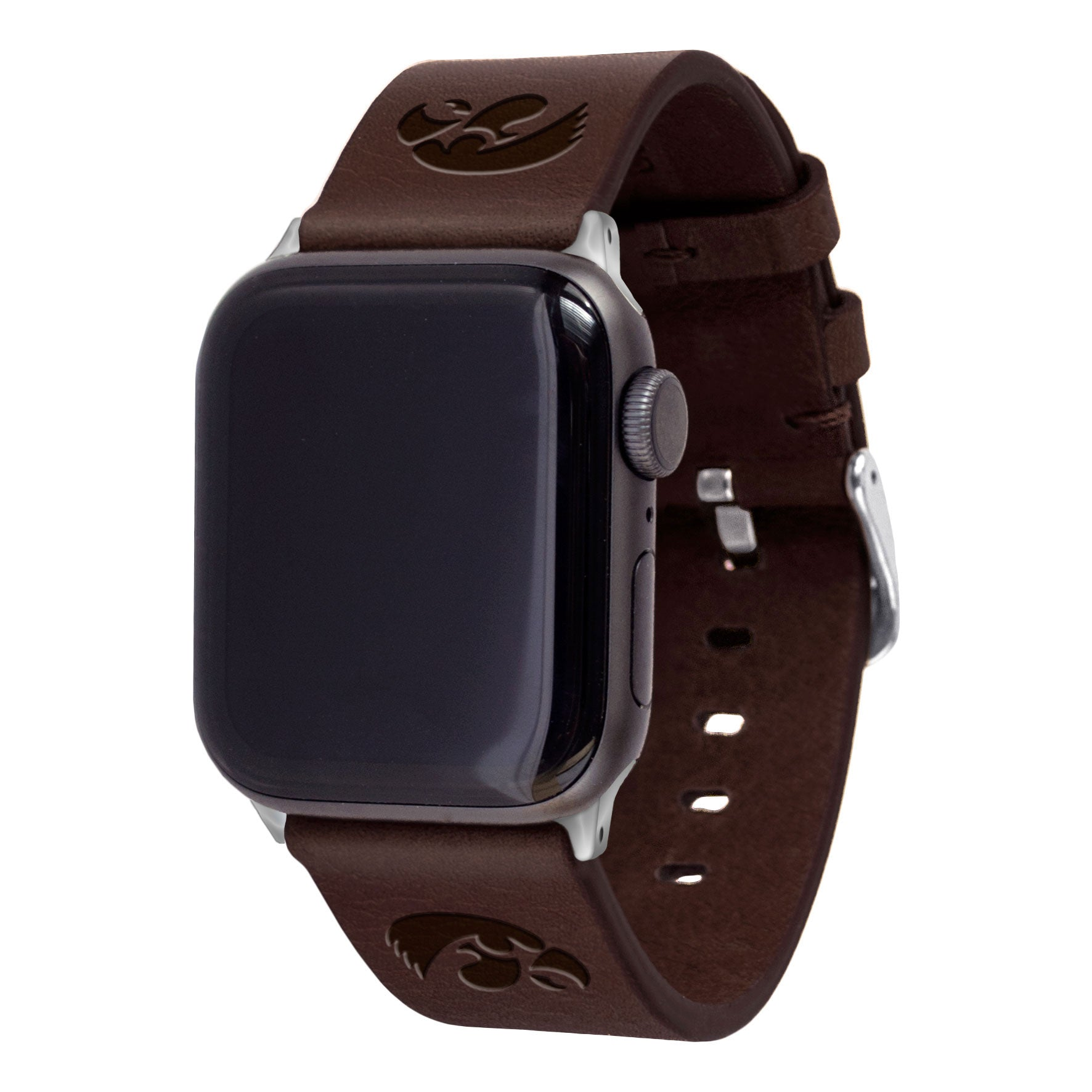 Iowa Hawkeyes Leather Apple Watch Band-AffinityBands