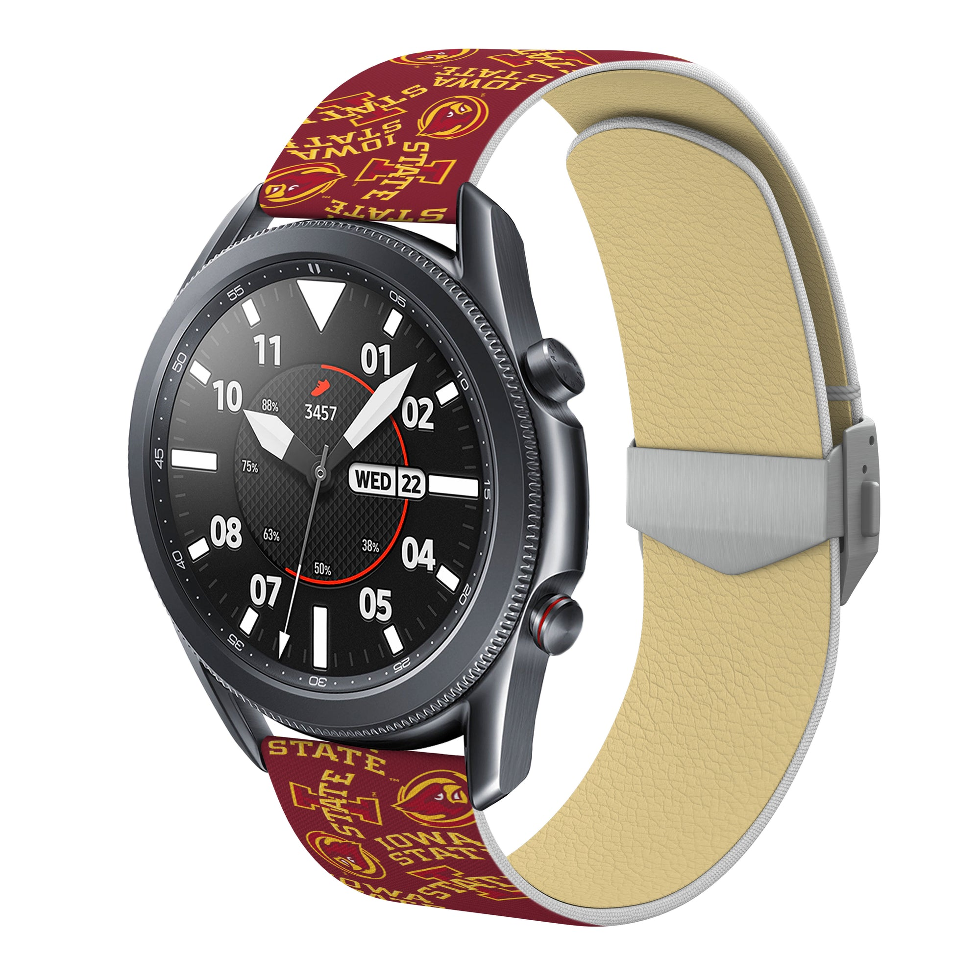 Iowa State Cyclones Full Print Quick Change Watch Band With Engraved Buckle - AffinityBands