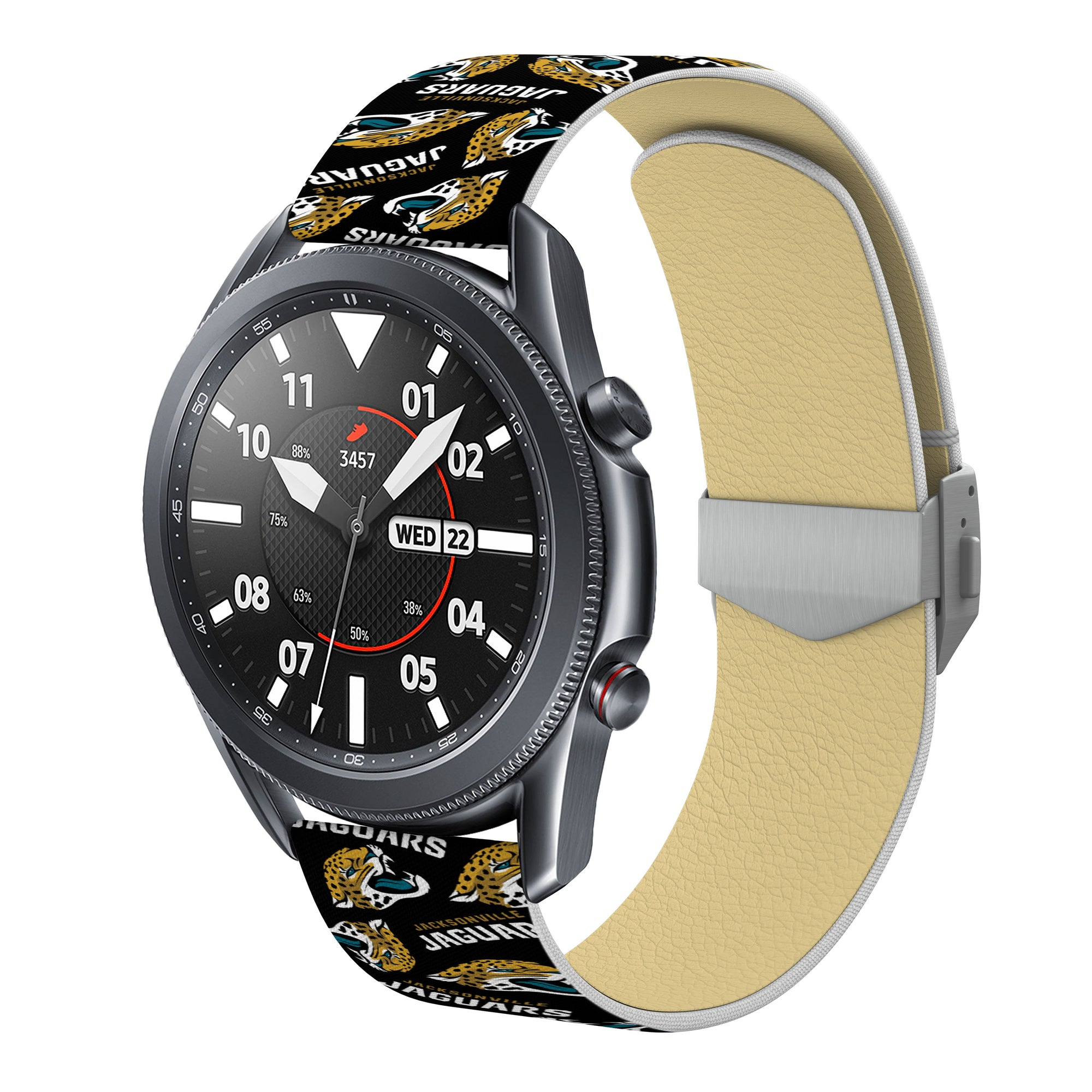 Jacksonville Jaguars Full Print Quick Change Watch Band With Engraved Buckle - AffinityBands