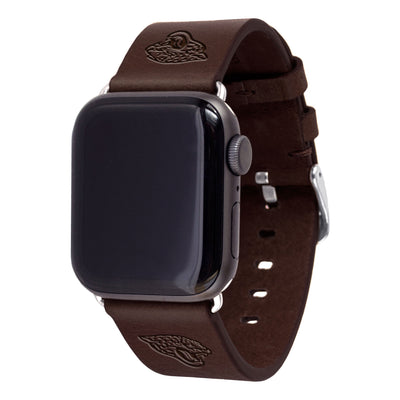 Jacksonville Jaguars Leather Apple Watch Band-AffinityBands