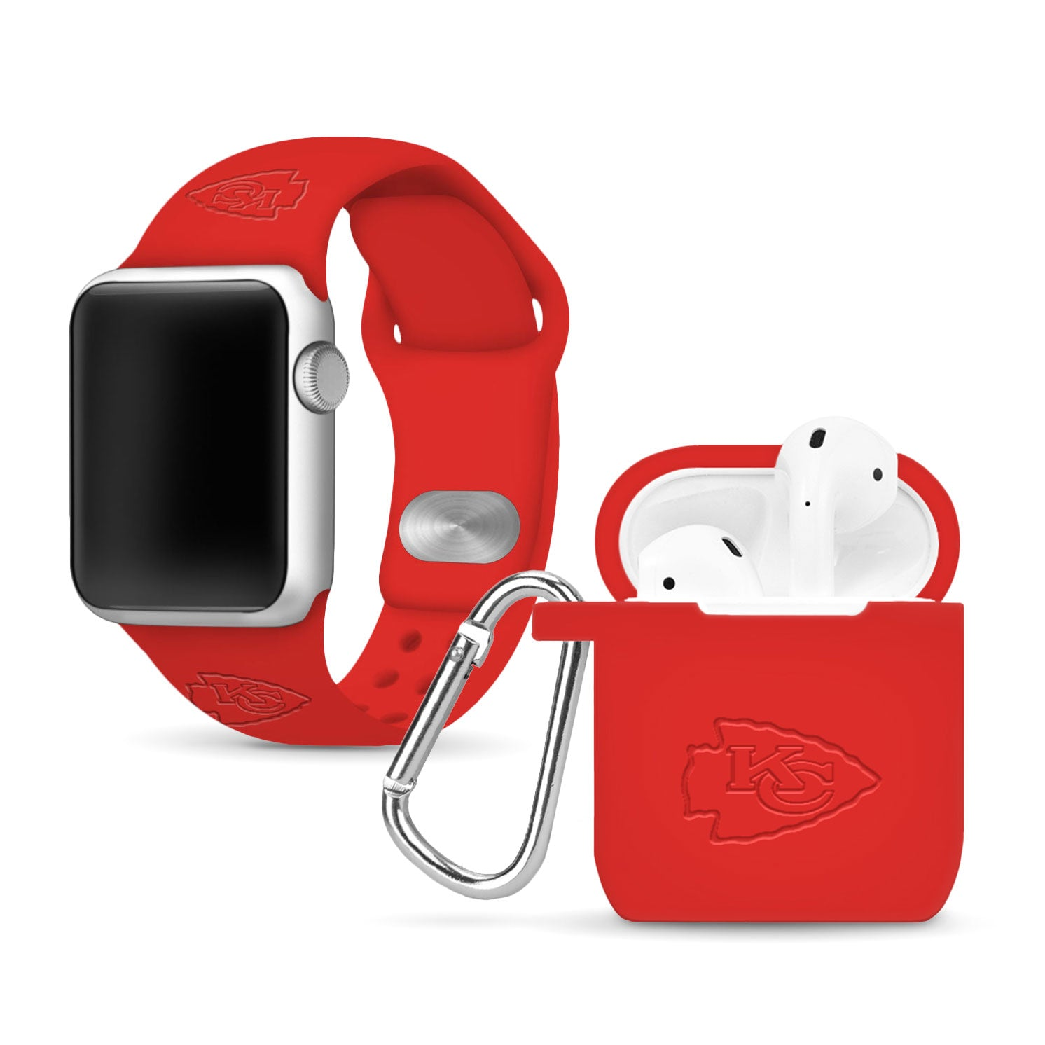 Kansas City Chiefs Debossed Apple Combo Package - AffinityBands