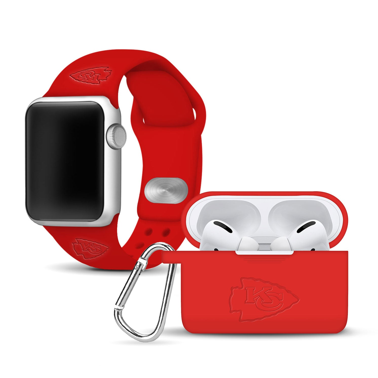 Kansas City Chiefs Debossed Apple Pro Combo Package - AffinityBands