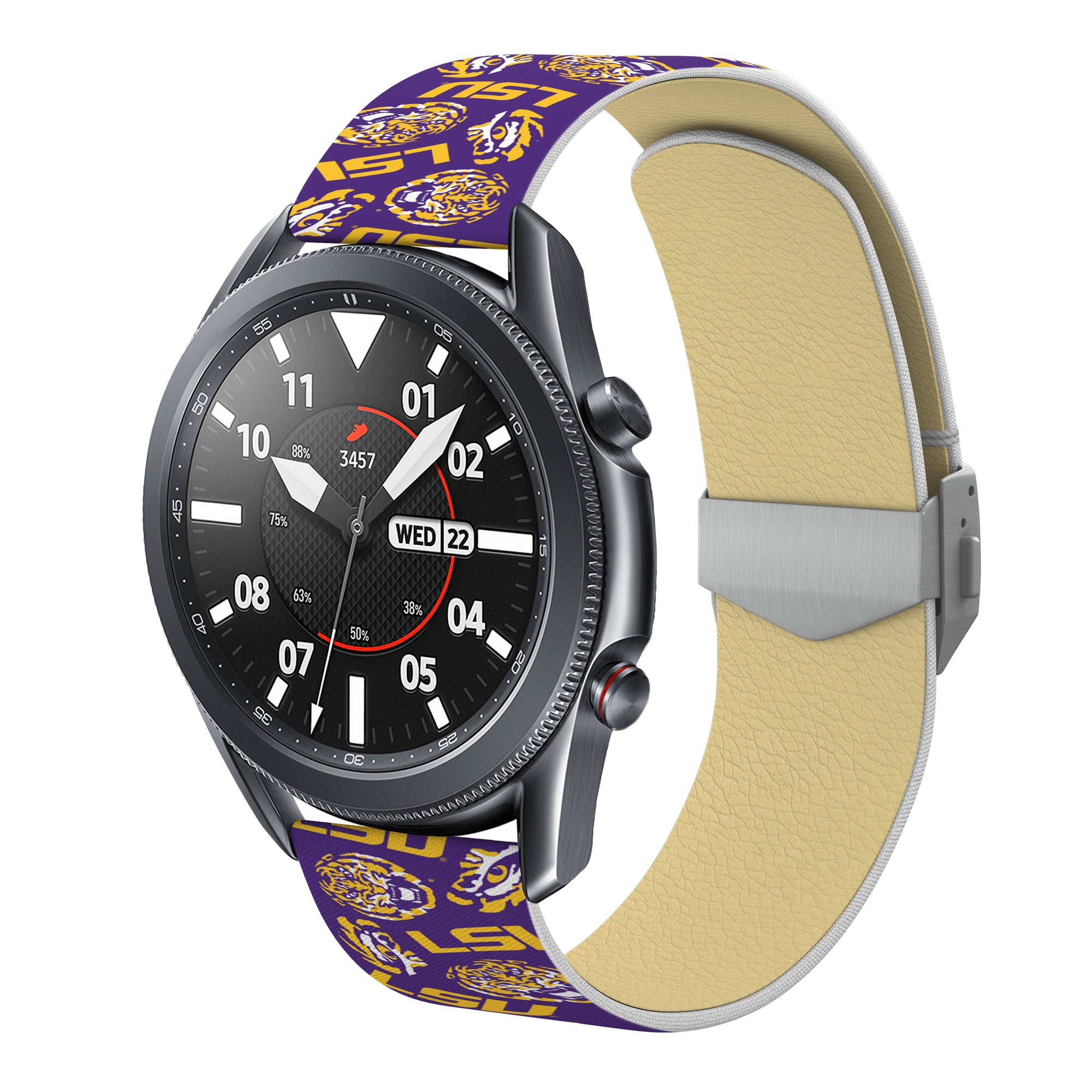 Louisiana State Tigers Full Print Quick Change Watch Band With Engraved Buckle - AffinityBands