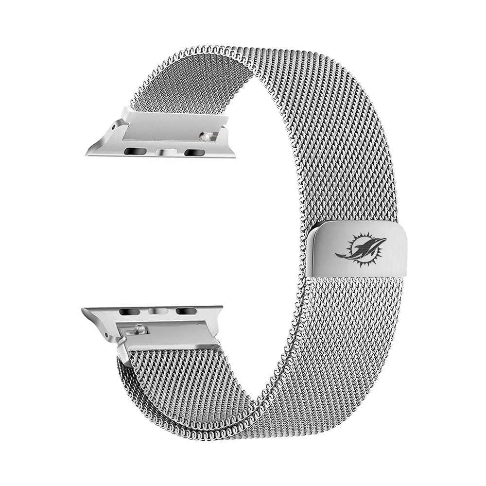 Miami Dolphins Stainless Steel Apple Watch Band