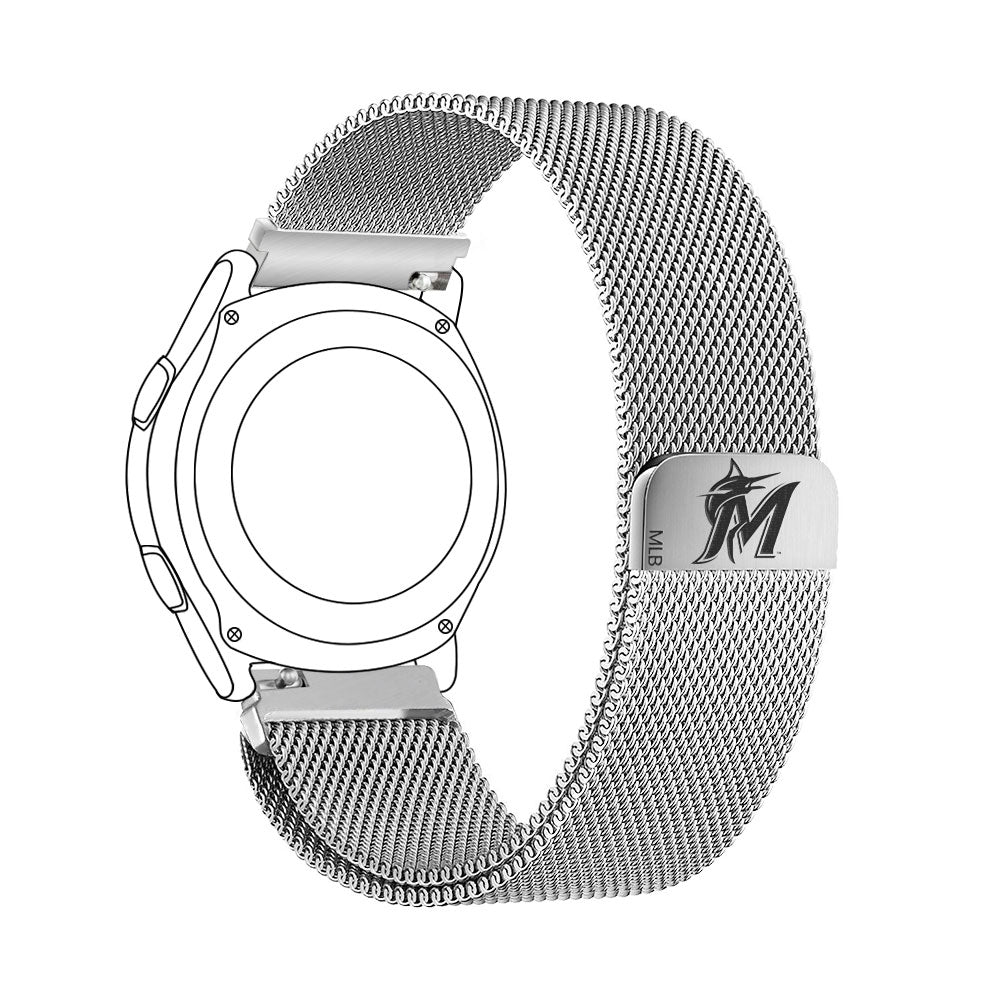 Miami Marlins Quick Change Stainless Steel Watchband