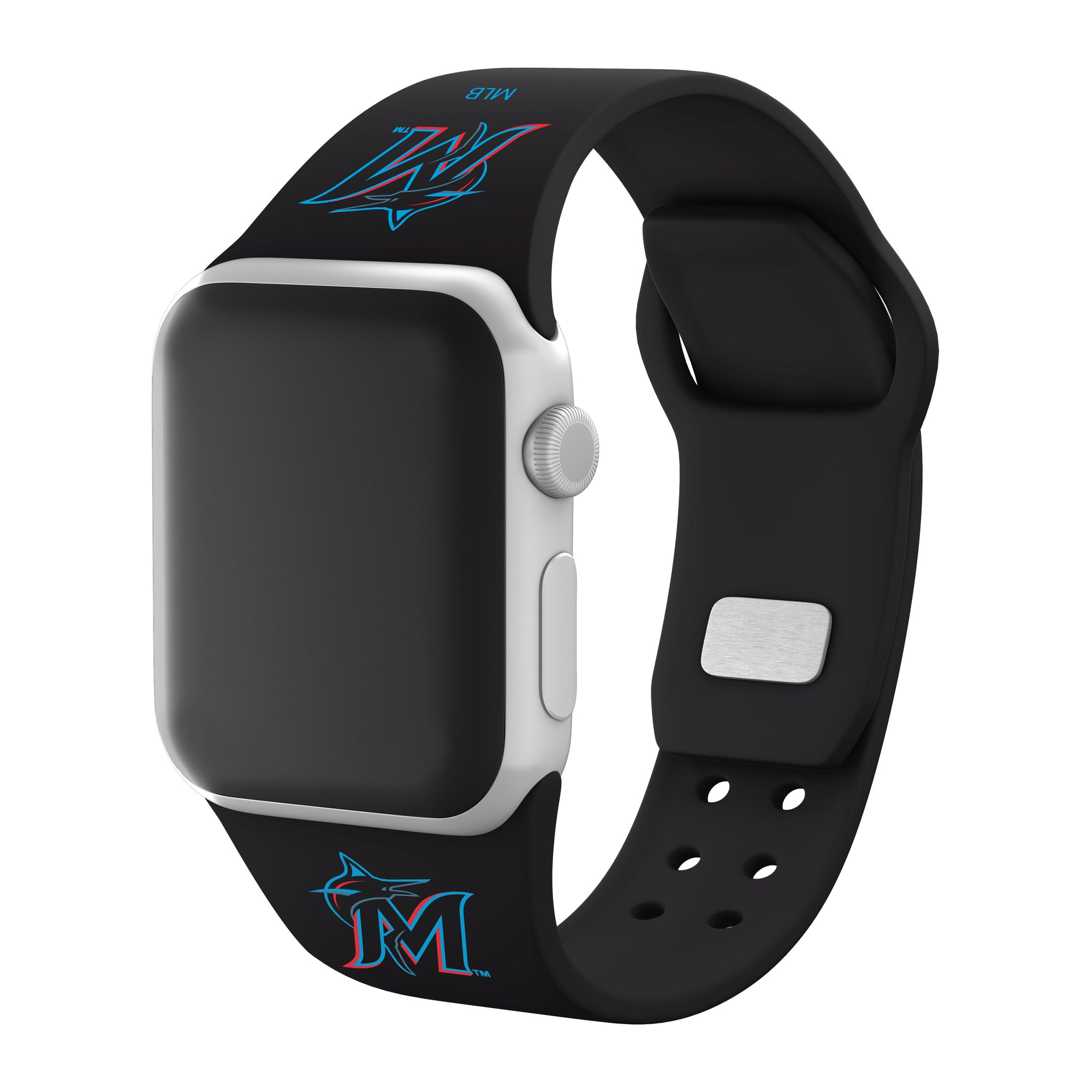 Miami Marlins Silicone Apple Watchband-AffinityBands