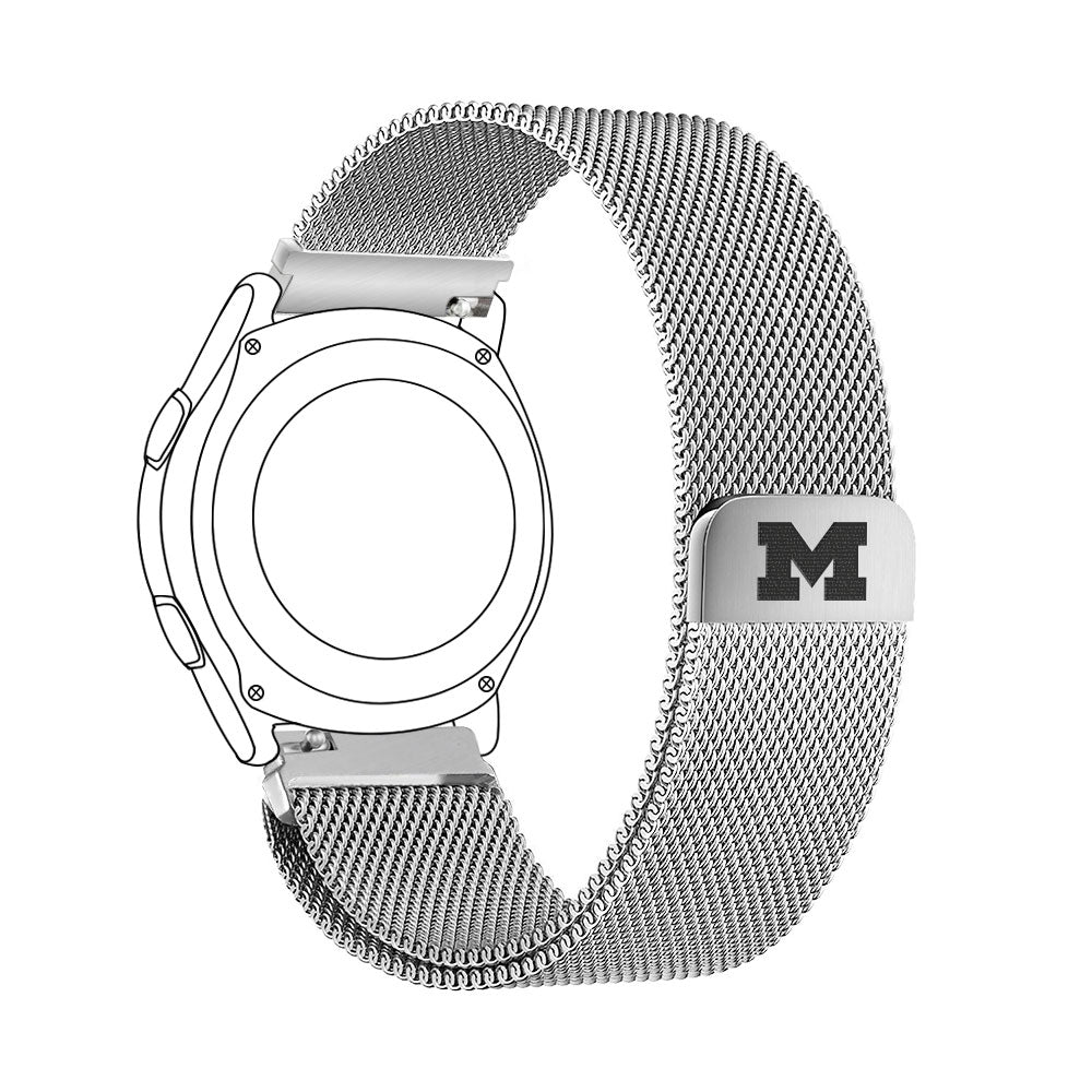 Michigan Wolverines Quick Change Stainless Steel Watch Bands