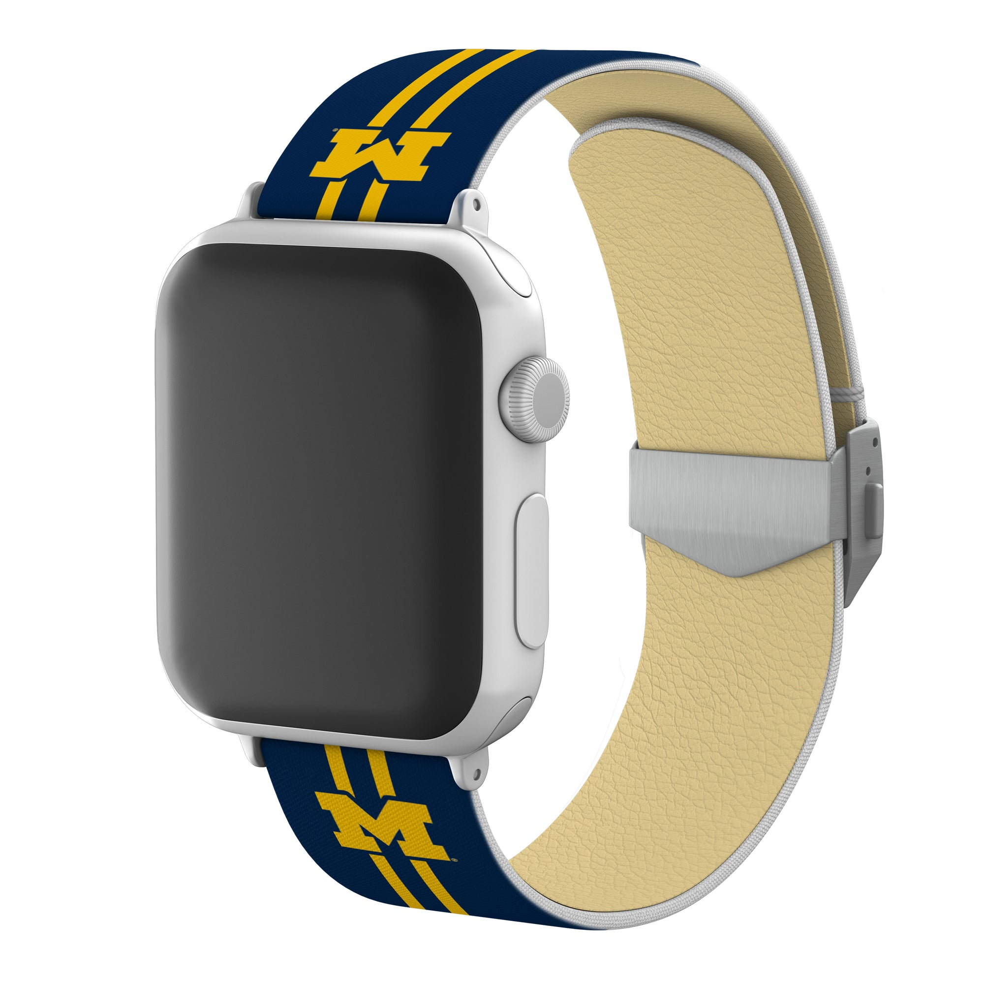 Michigan Wolverines Full Print Watch Band With Engraved Buckle - AffinityBands