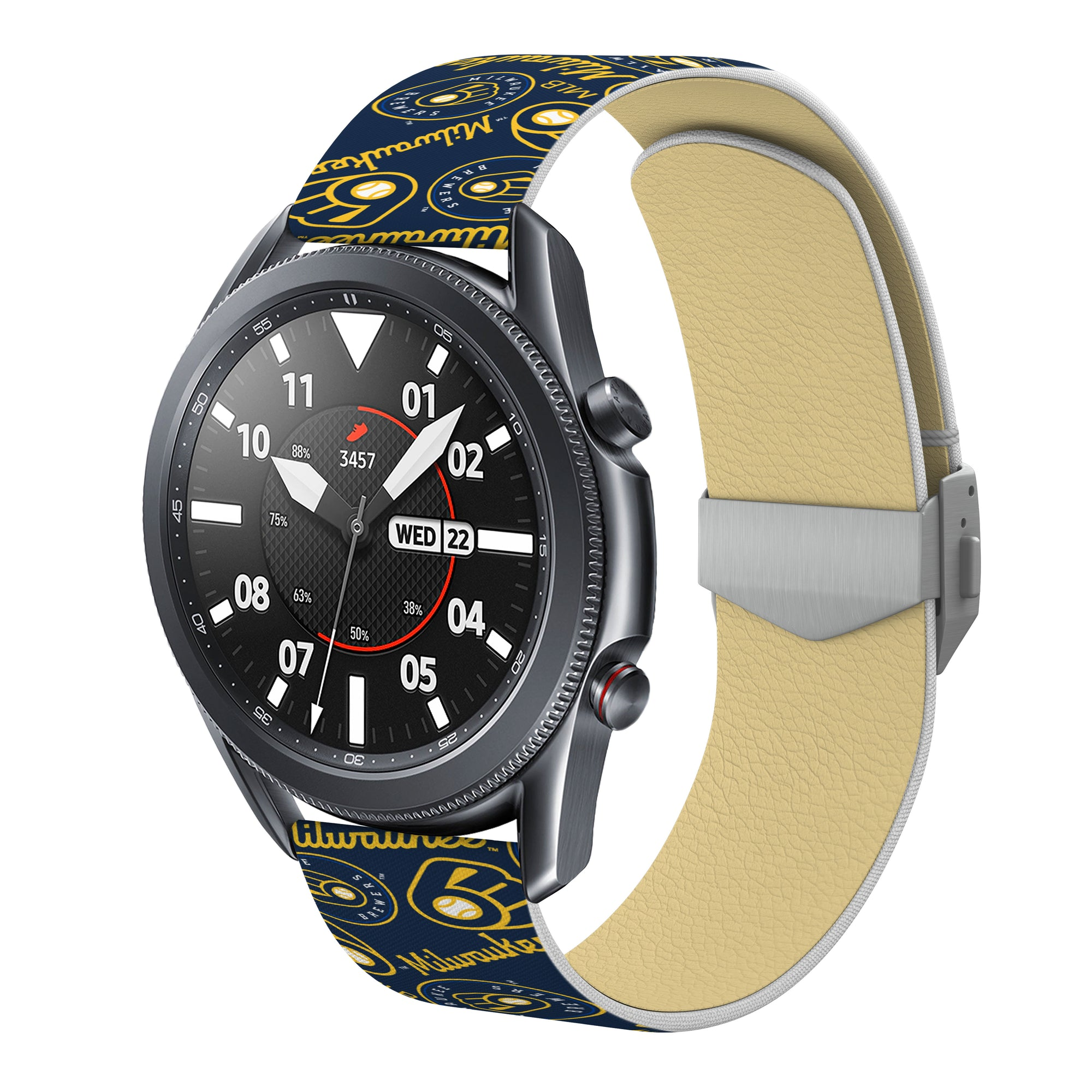 Milwaukee Brewers Debossed Silicone Watchband - AffinityBands