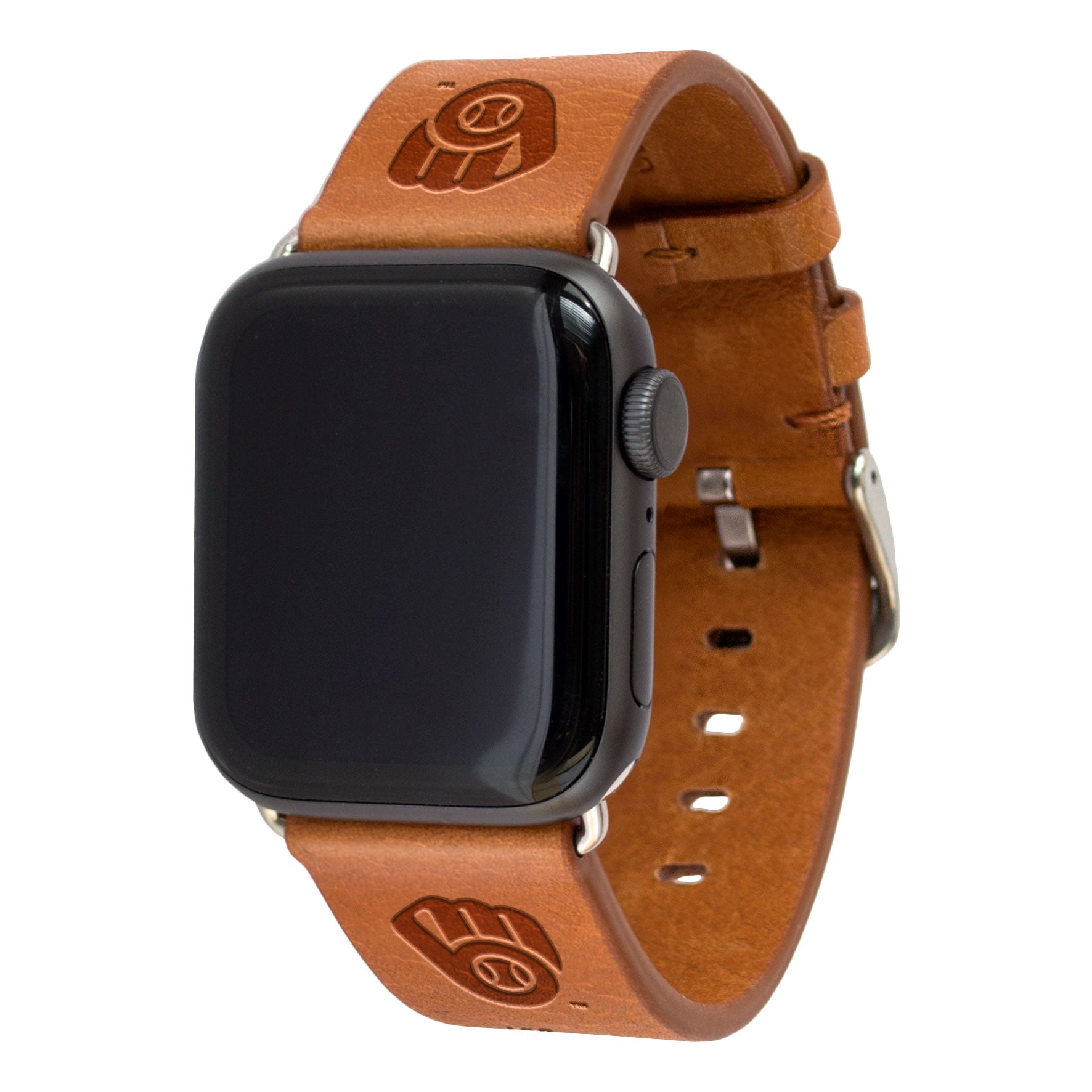 Milwaukee Brewers Leather Band Compatible with Apple Watch - AffinityBands