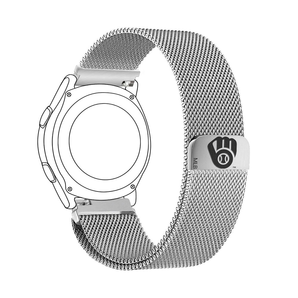 Milwaukee Brewers Quick Change Stainless Steel Watchband - AffinityBands