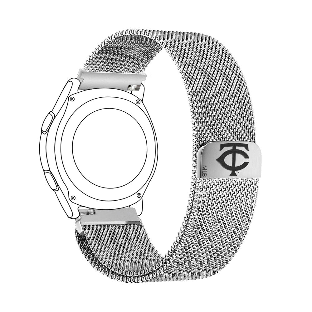 Minnesota Twins Quick Change Stainless Steel Watchband - AffinityBands