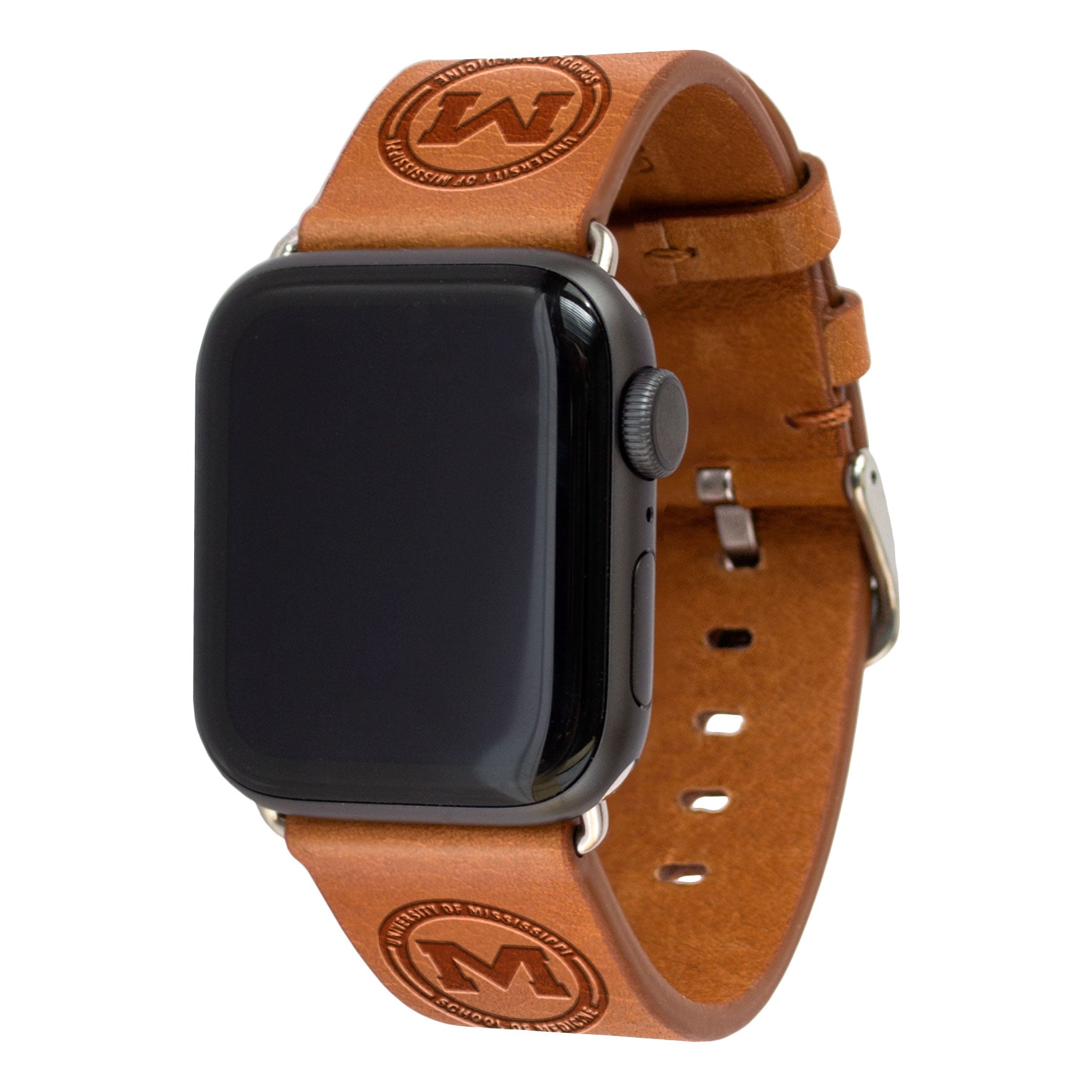 University of Mississippi School of Medicine Leather Apple Watch Band