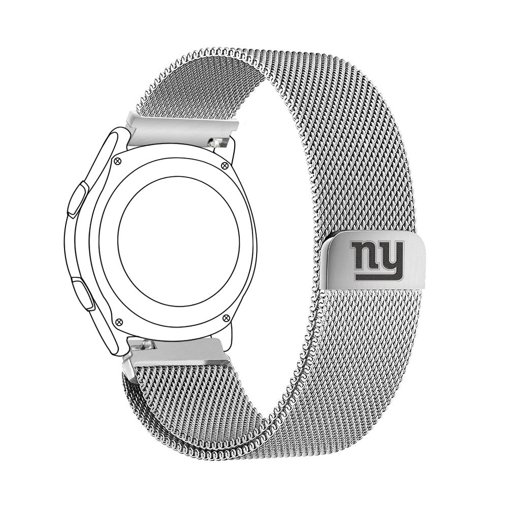 New York Giants Quick Change Stainless Steel Watch Band - AffinityBands