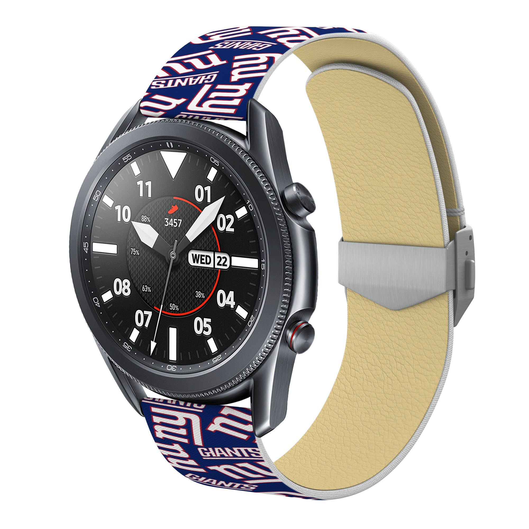New York Giants Full Print Quick Change Watch Band With Engraved Buckle - AffinityBands